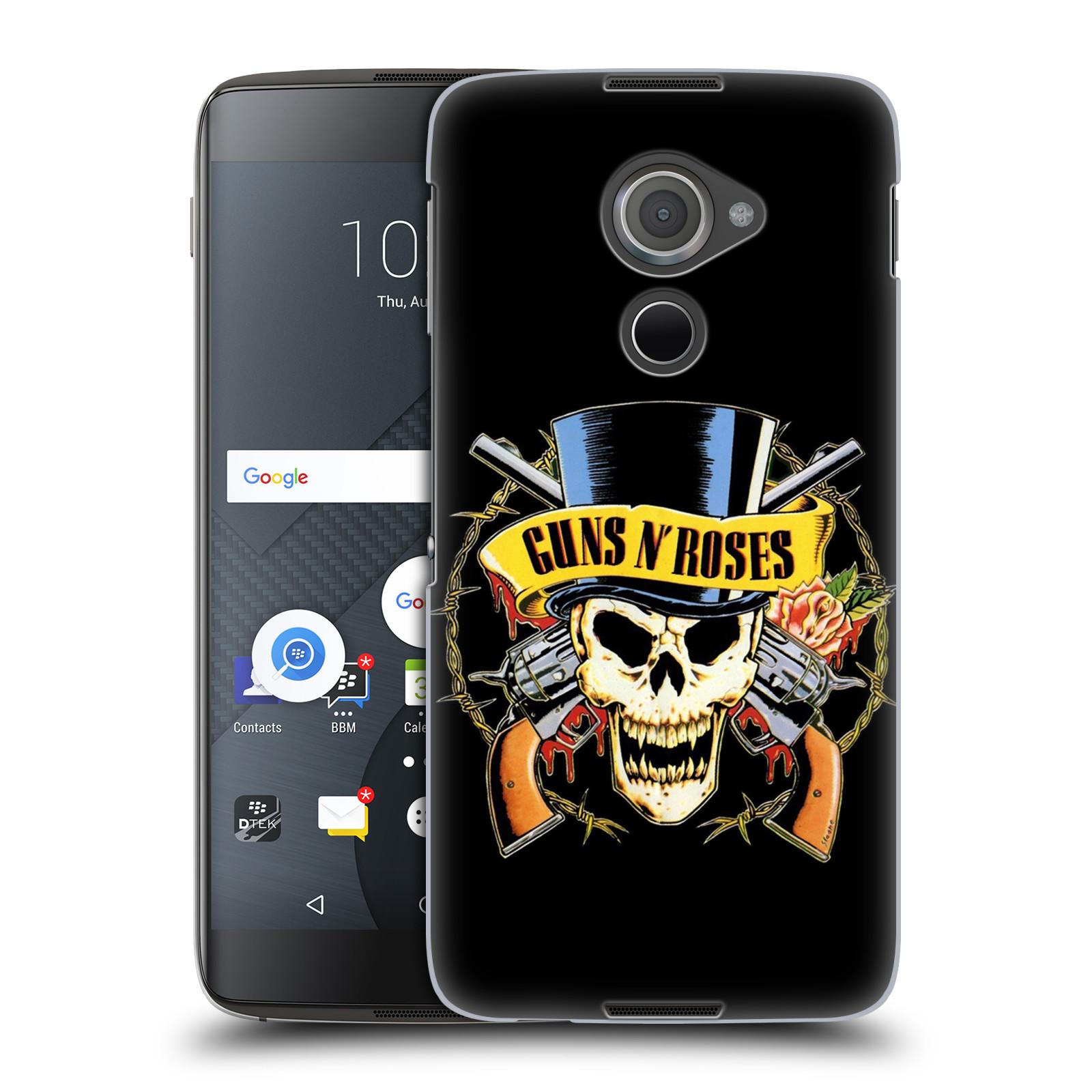 Plastové pouzdro na mobil Blackberry DTEK60 (Argon) - Head Case Guns N' Roses - Lebka