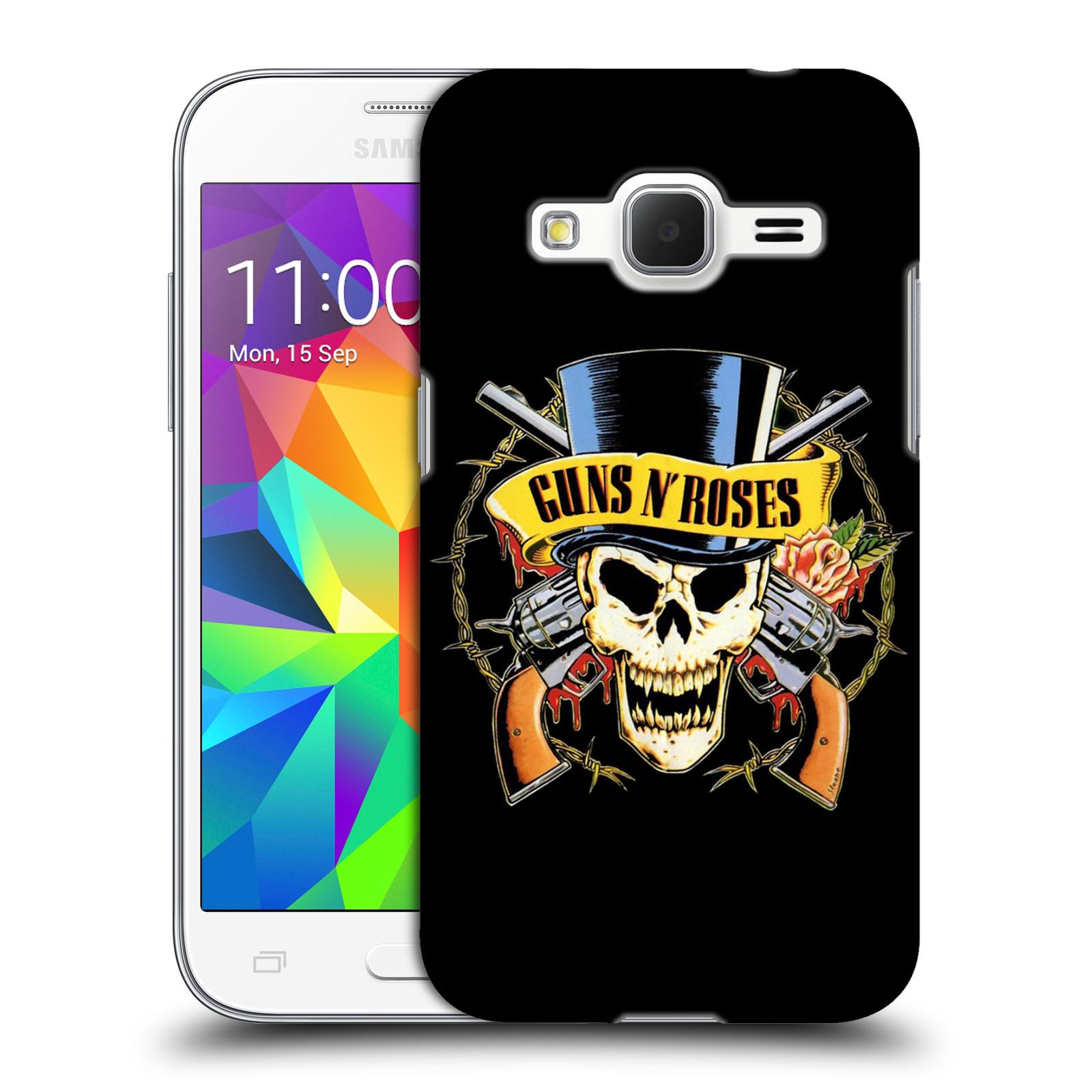 Plastové pouzdro na mobil Samsung Galaxy Core Prime VE HEAD CASE Guns N' Roses - Lebka