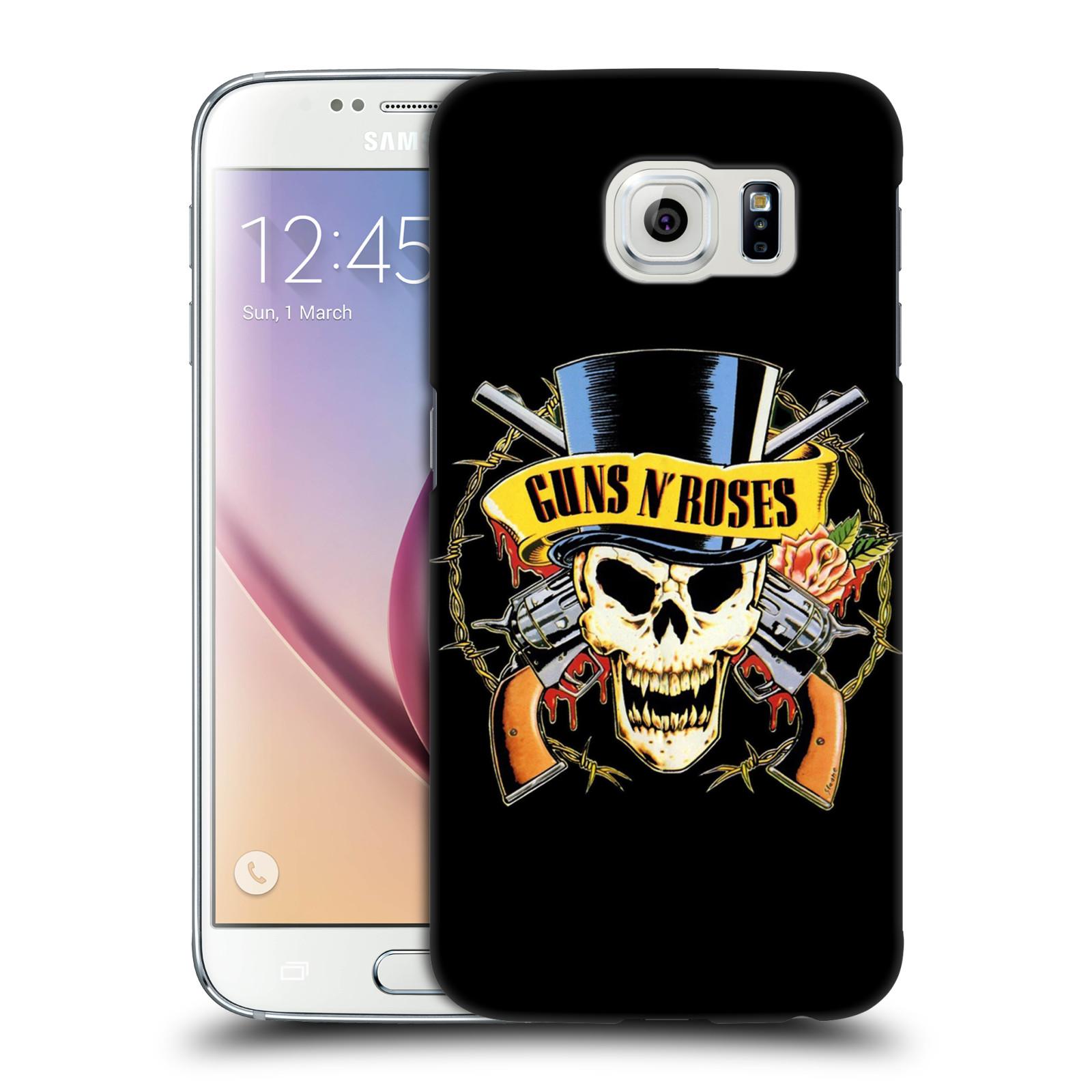 Plastové pouzdro na mobil Samsung Galaxy S6 HEAD CASE Guns N' Roses - Lebka