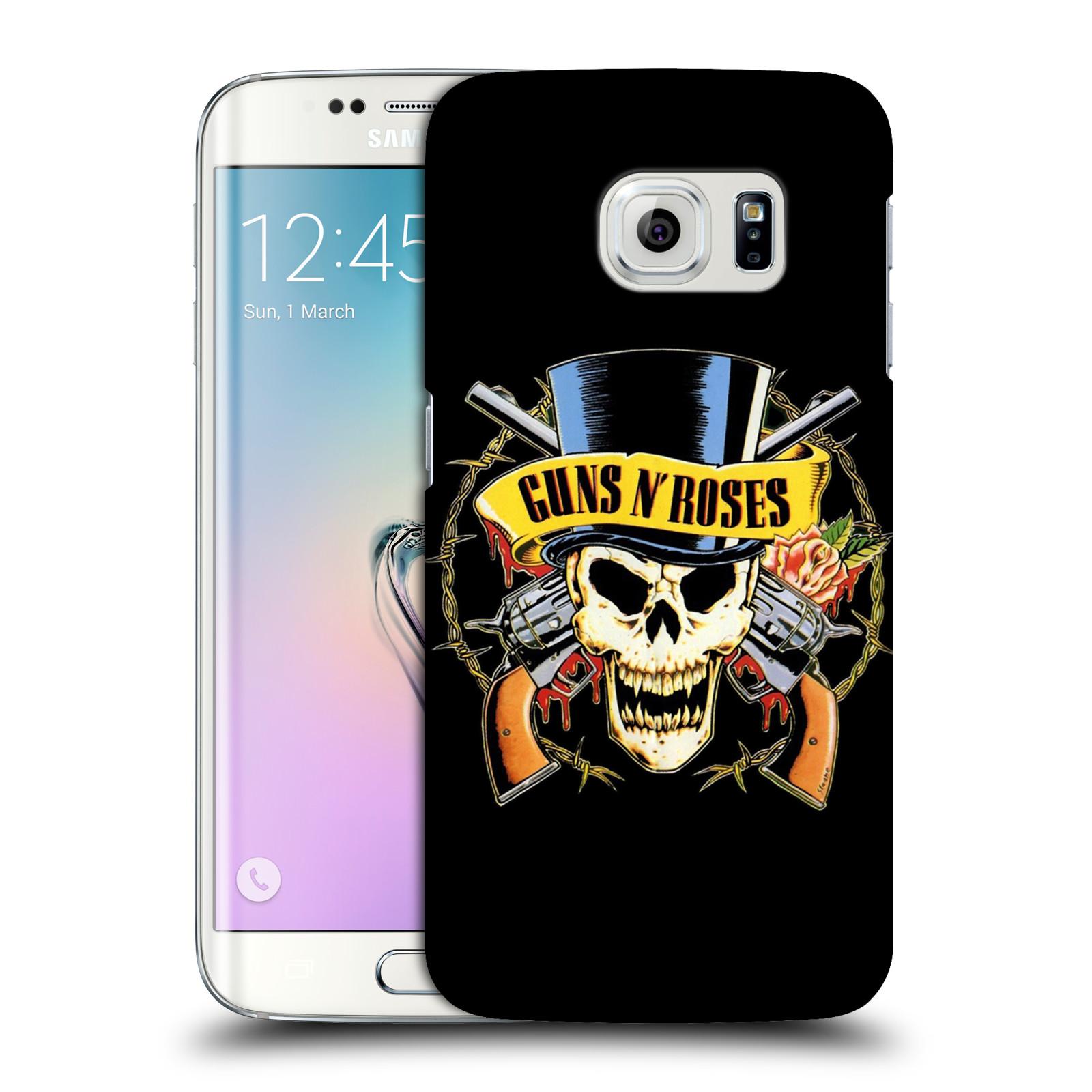 Plastové pouzdro na mobil Samsung Galaxy S6 Edge HEAD CASE Guns N' Roses - Lebka