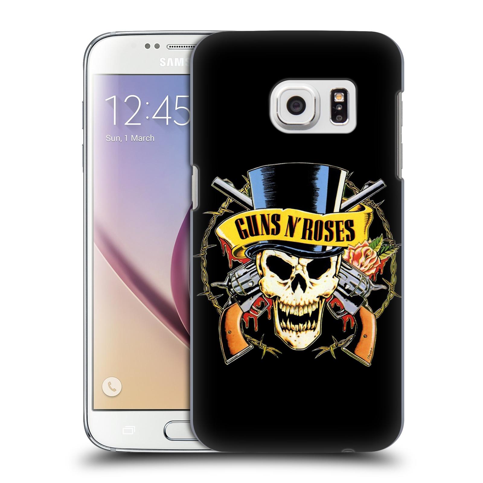 Plastové pouzdro na mobil Samsung Galaxy S7 HEAD CASE Guns N' Roses - Lebka