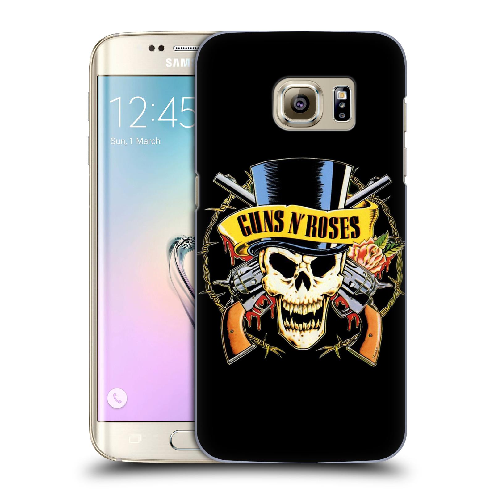 Plastové pouzdro na mobil Samsung Galaxy S7 Edge HEAD CASE Guns N' Roses - Lebka