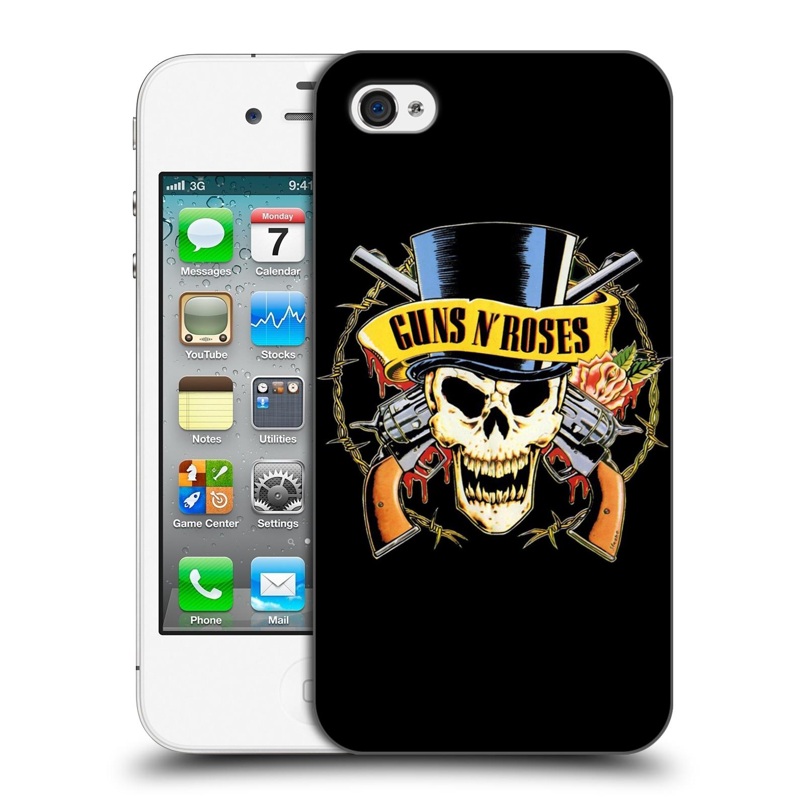 Plastové pouzdro na mobil Apple iPhone 4 a 4S HEAD CASE Guns N' Roses - Lebka