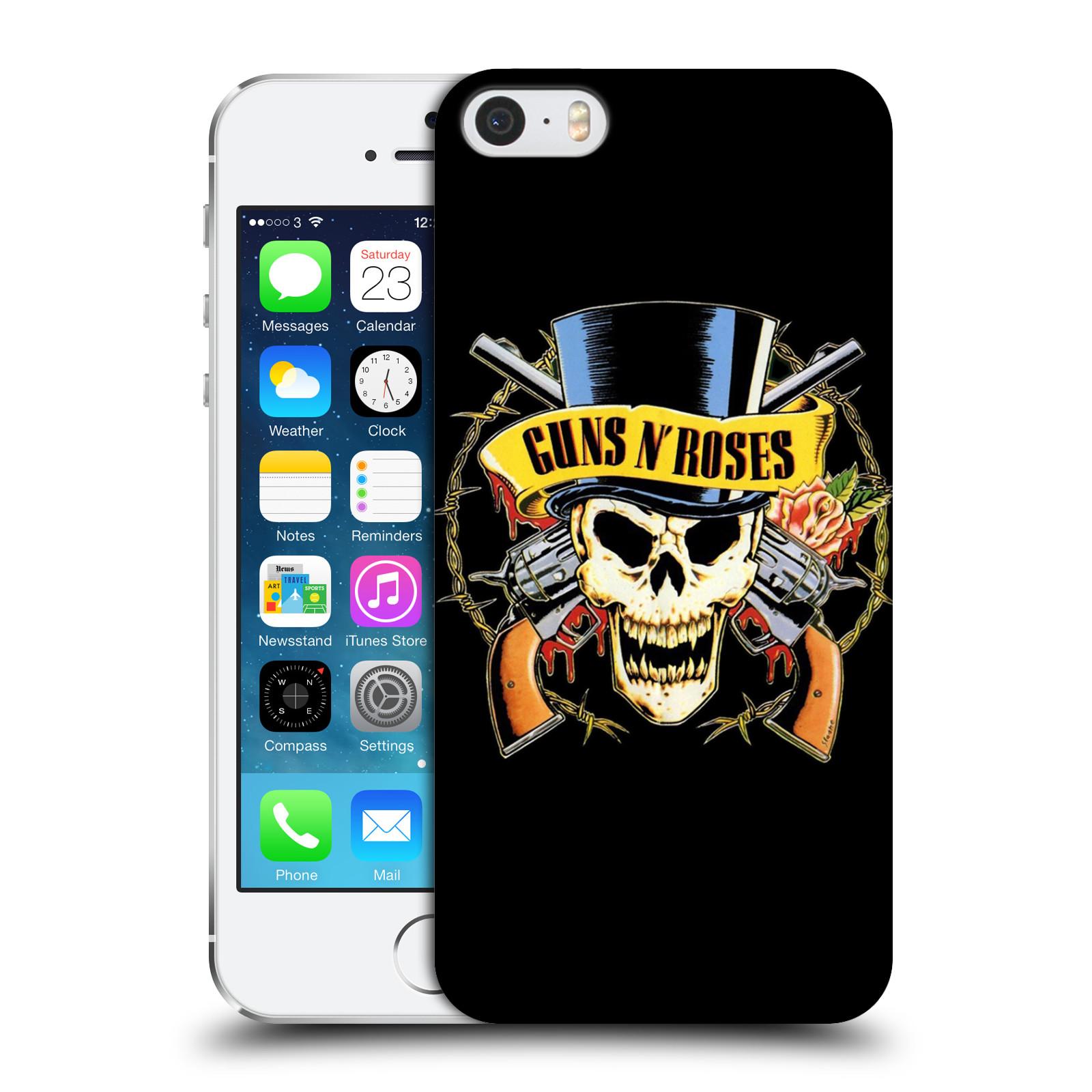 Plastové pouzdro na mobil Apple iPhone SE, 5 a 5S HEAD CASE Guns N' Roses - Lebka