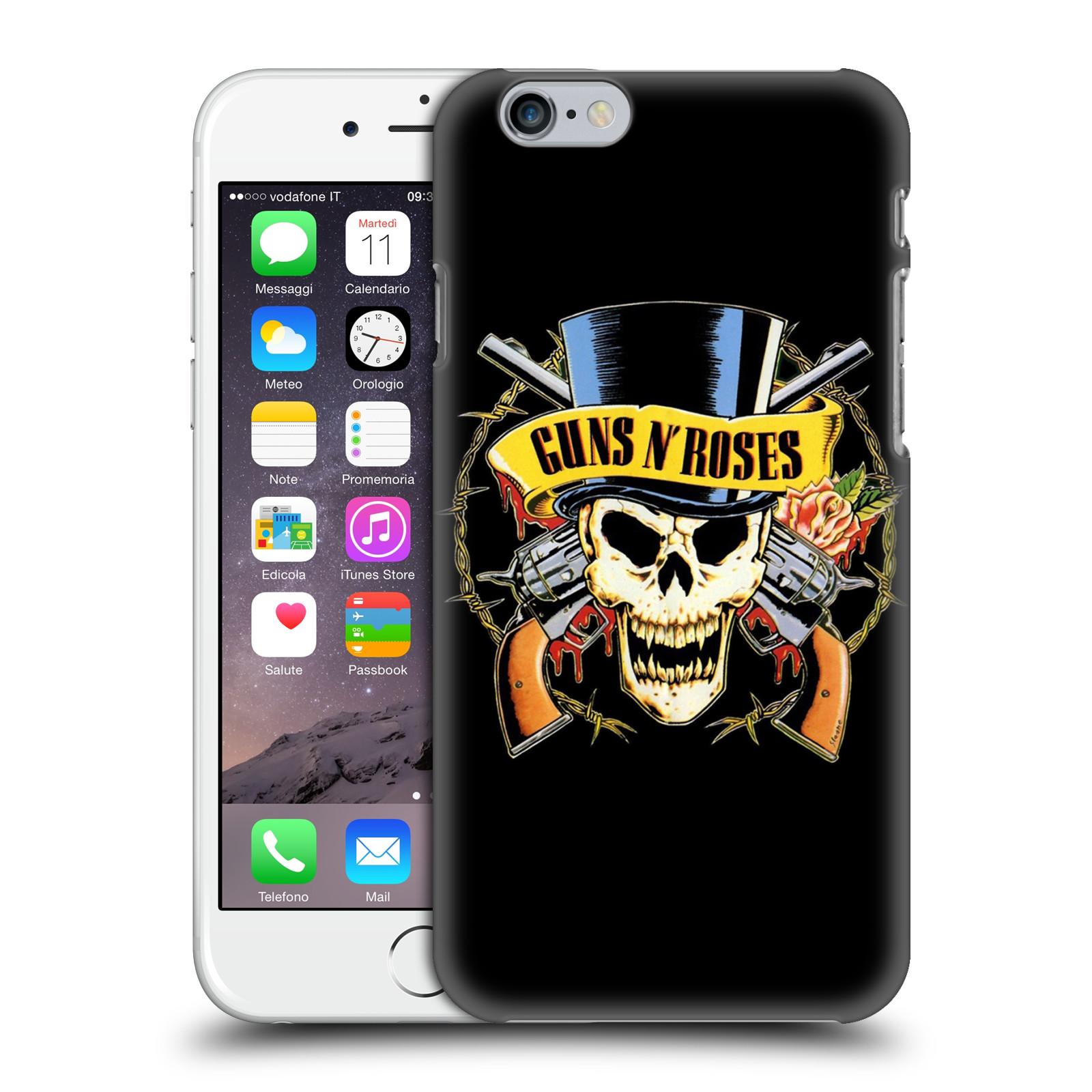 Plastové pouzdro na mobil Apple iPhone 6 HEAD CASE Guns N' Roses - Lebka