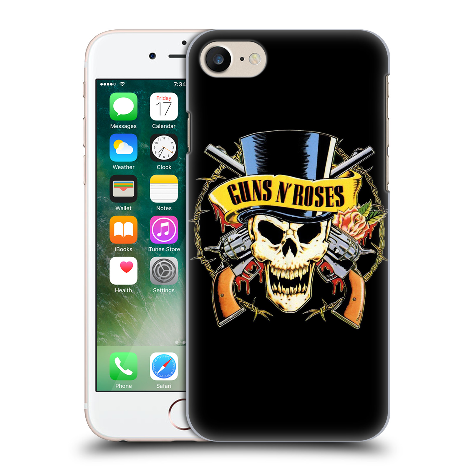 Plastové pouzdro na mobil Apple iPhone 7 HEAD CASE Guns N' Roses - Lebka