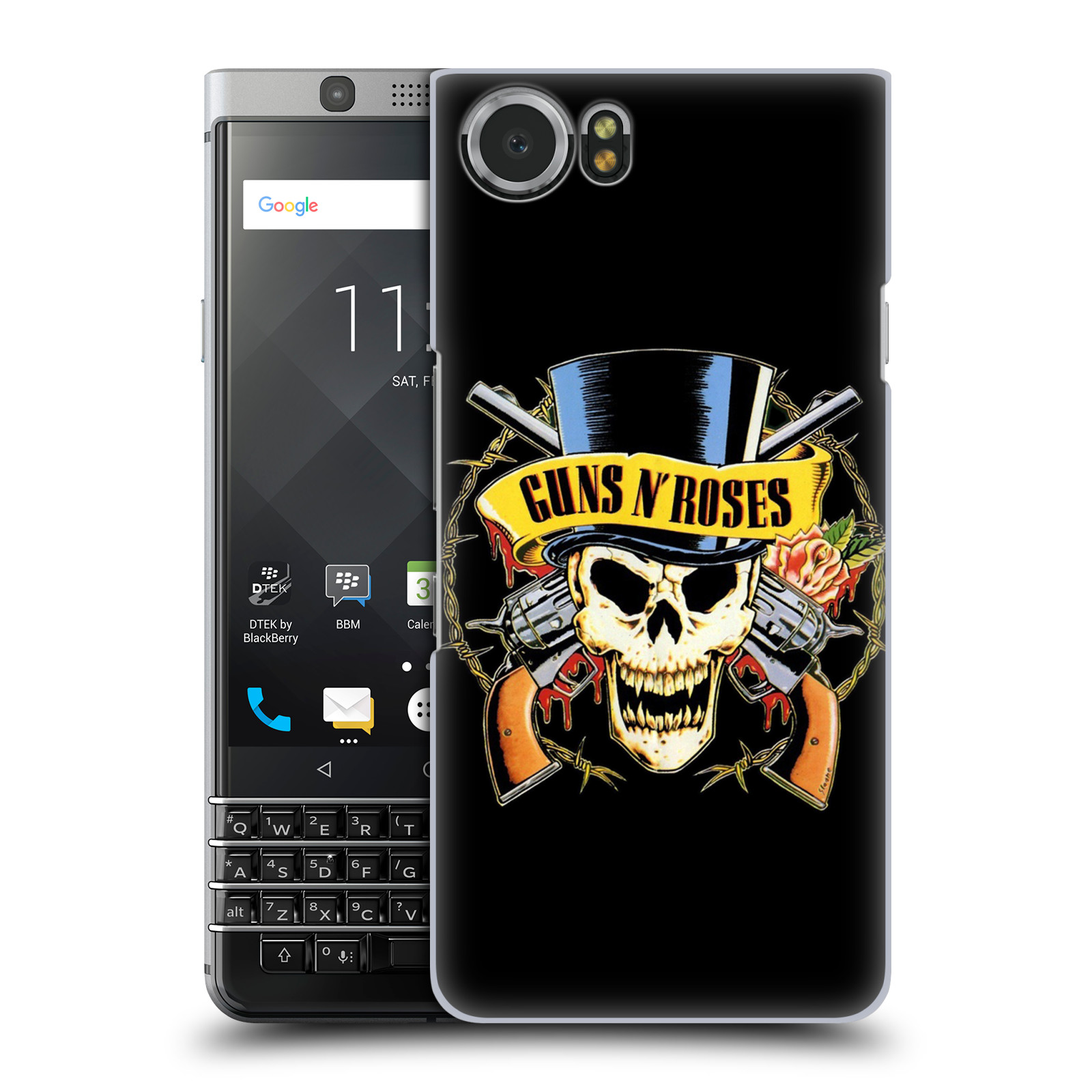 Plastové pouzdro na mobil BlackBerry KEYone - Head Case - Guns N' Roses - Lebka