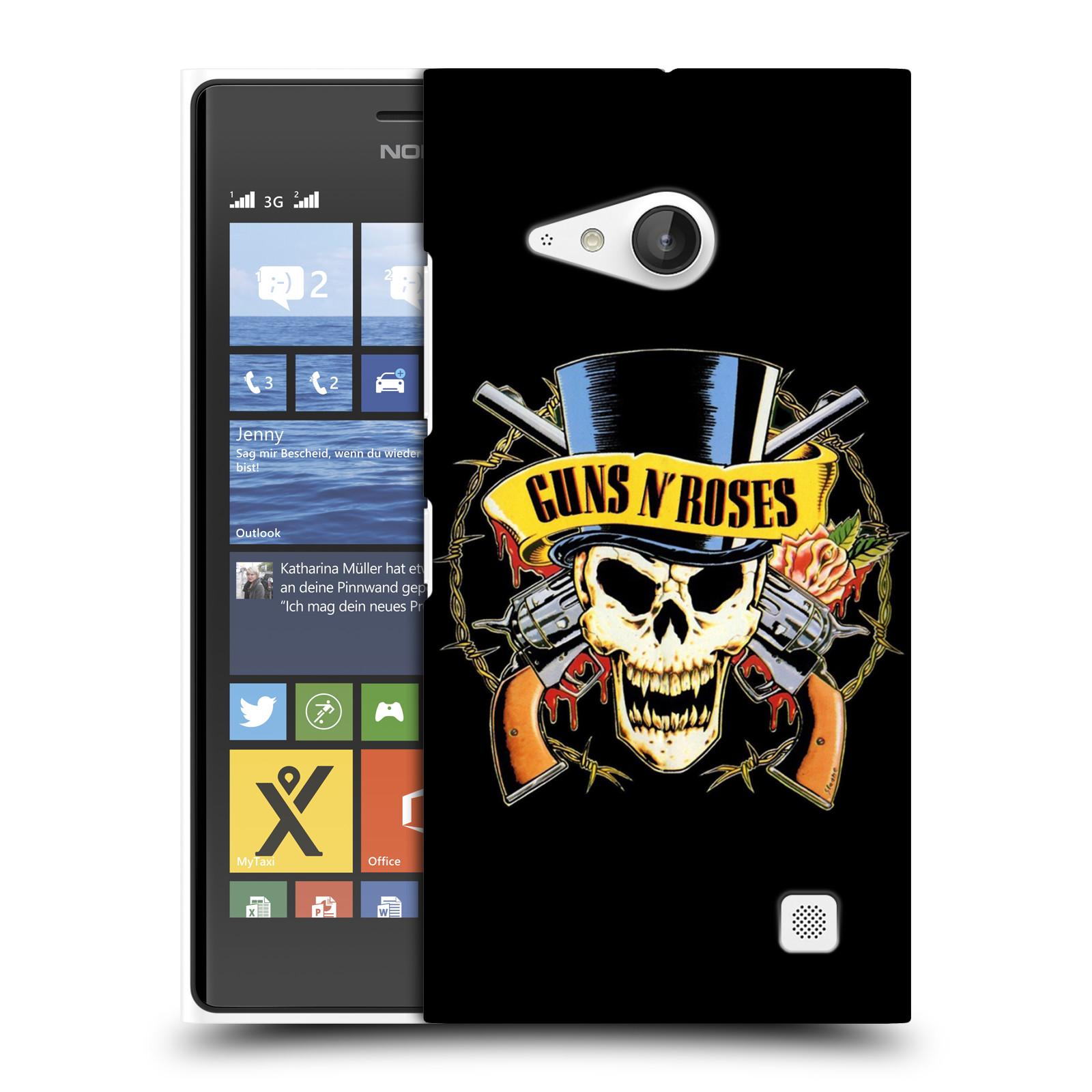 Plastové pouzdro na mobil Nokia Lumia 735 HEAD CASE Guns N' Roses - Lebka