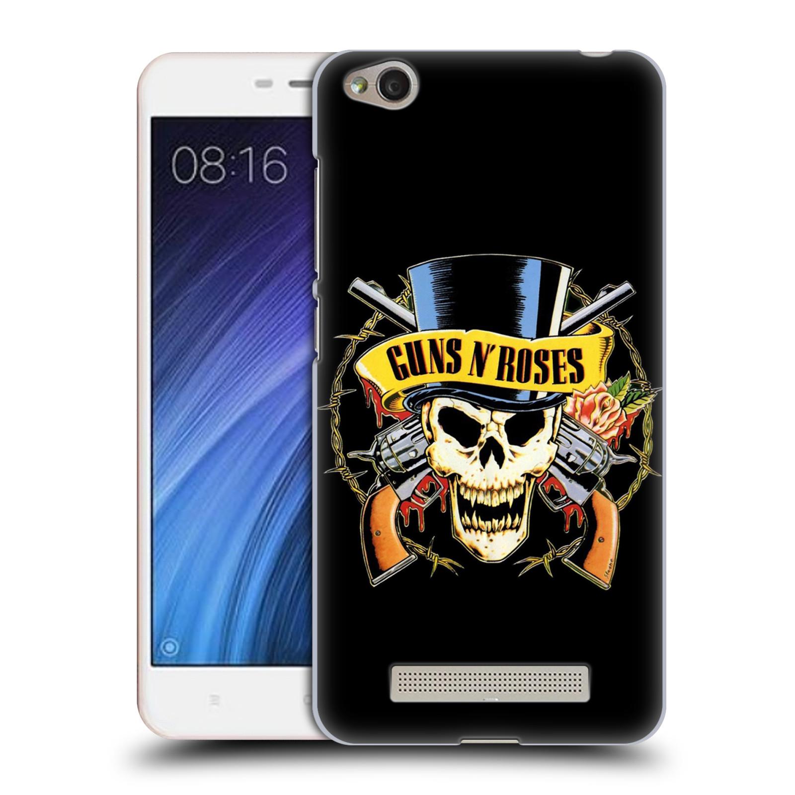 Plastové pouzdro na mobil Xiaomi Redmi 4A HEAD CASE Guns N' Roses - Lebka