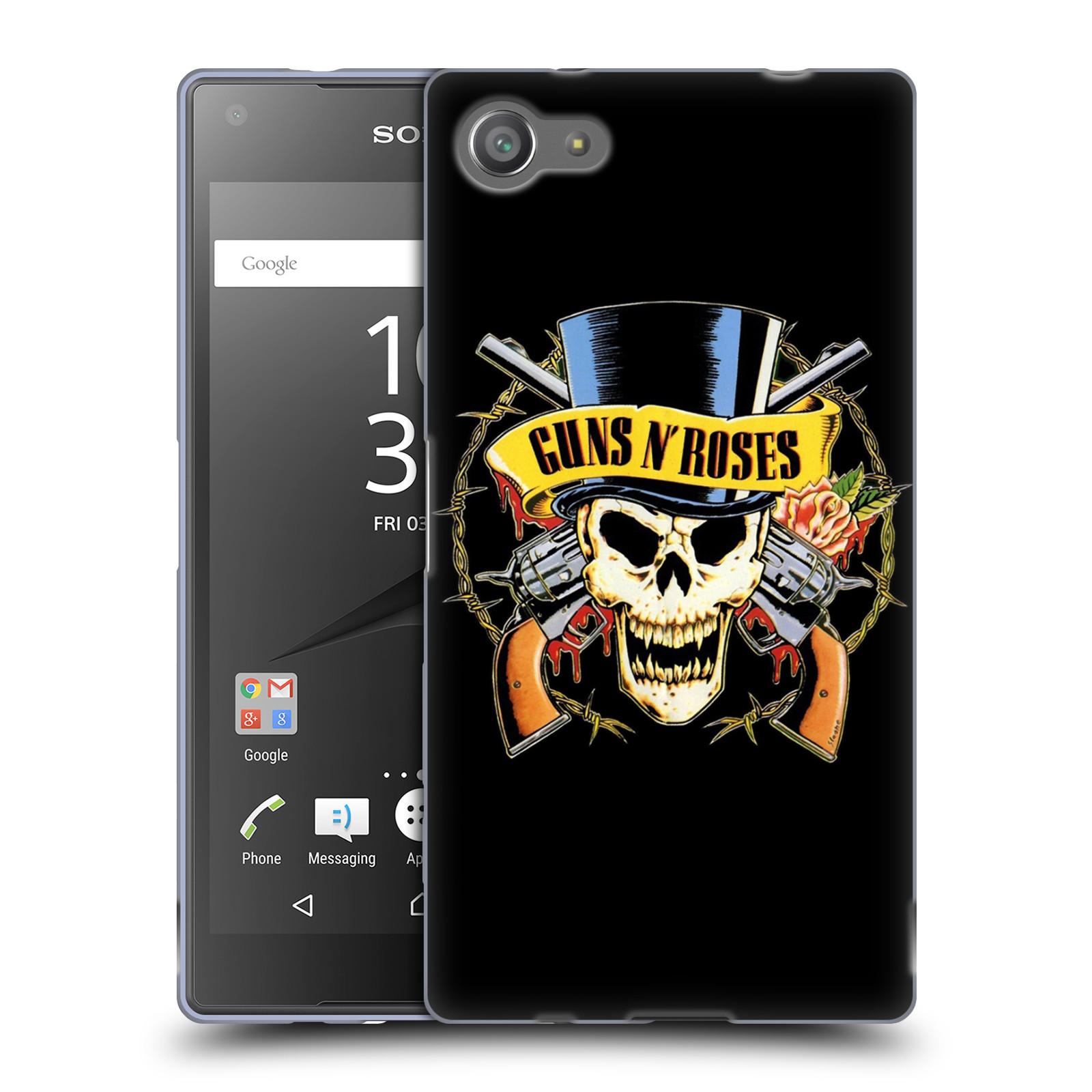 Silikonové pouzdro na mobil Sony Xperia Z5 Compact HEAD CASE Guns N' Roses - Lebka