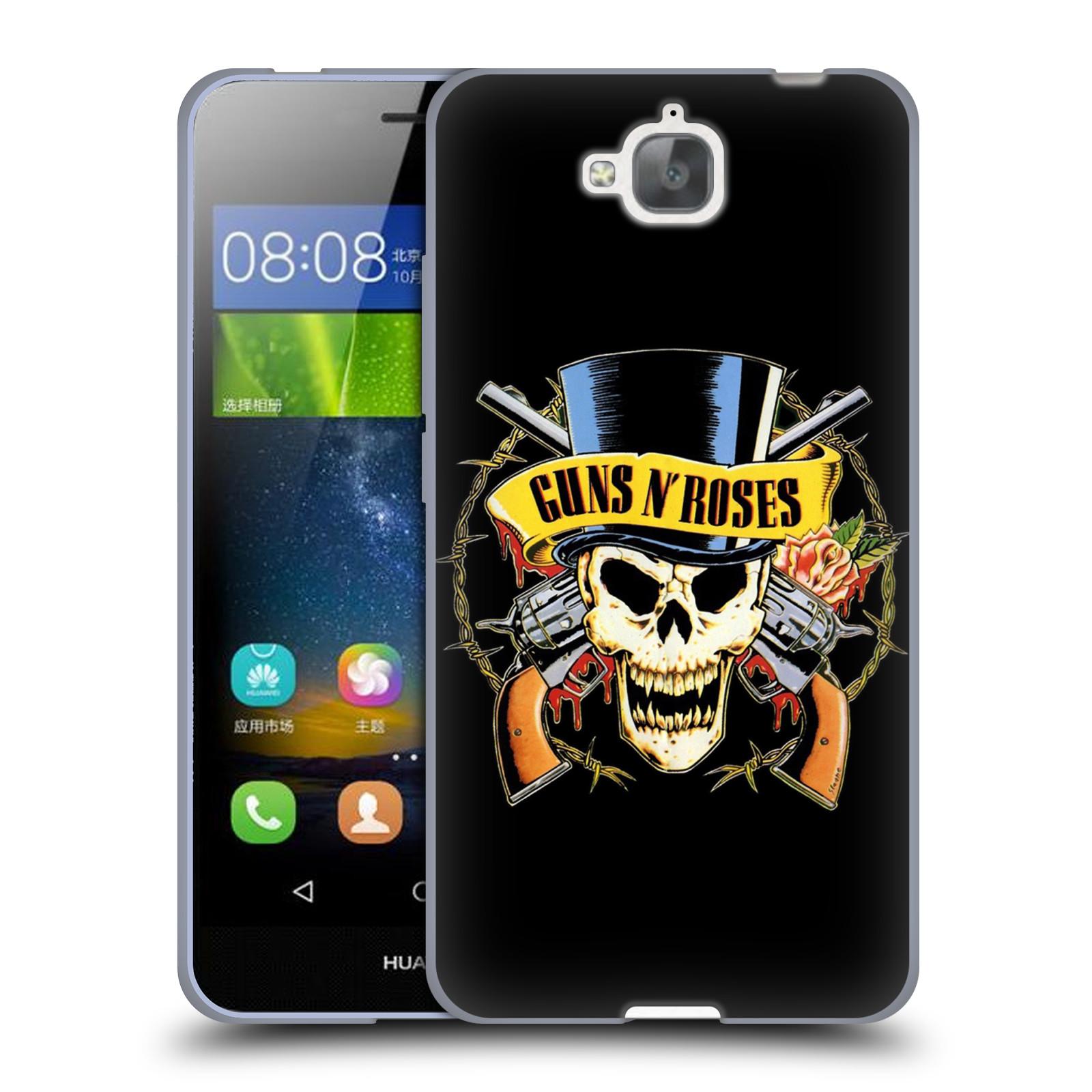 Silikonové pouzdro na mobil Huawei Y6 Pro Dual Sim HEAD CASE Guns N' Roses - Lebka