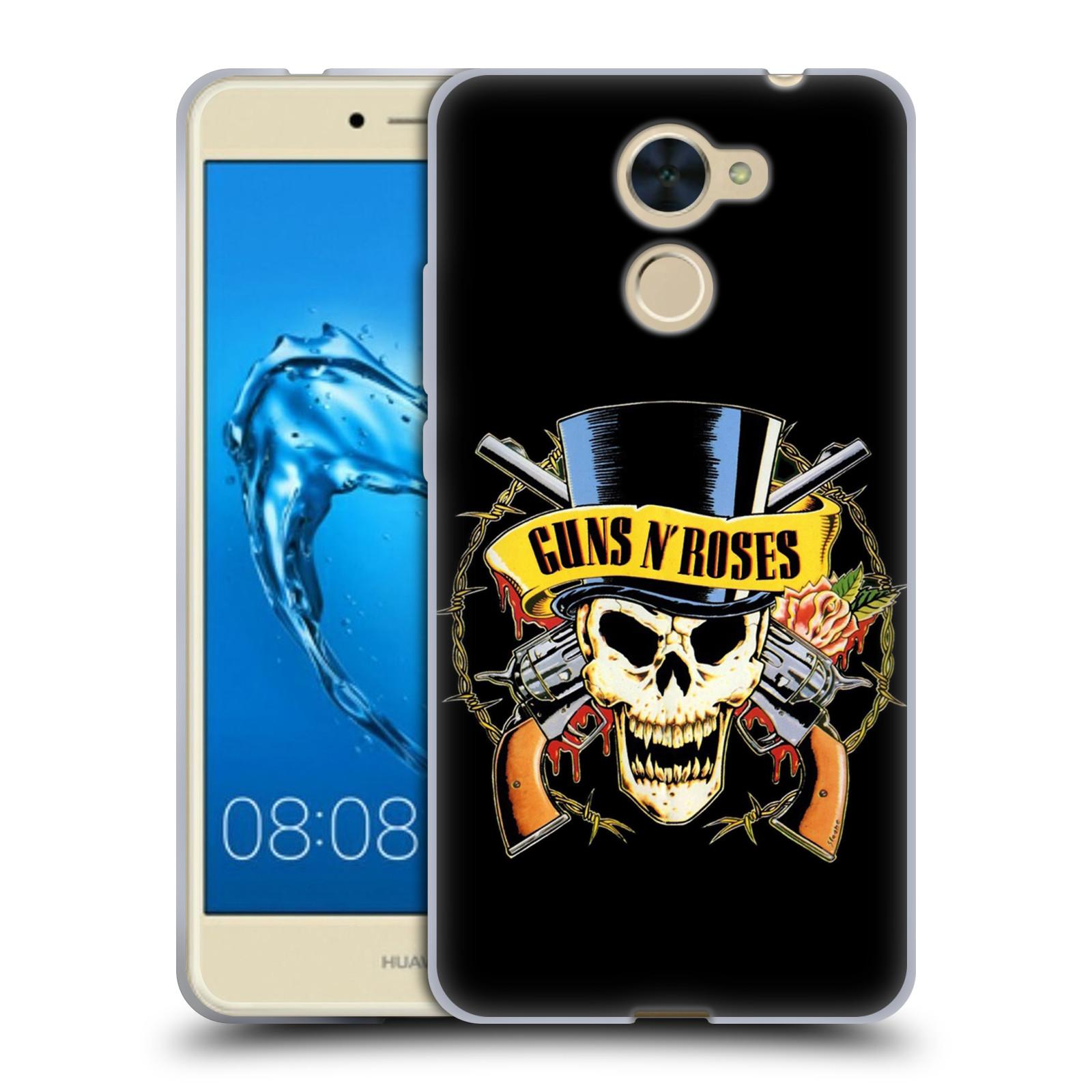 Silikonové pouzdro na mobil Huawei Y7 - Head Case - Guns N' Roses - Lebka