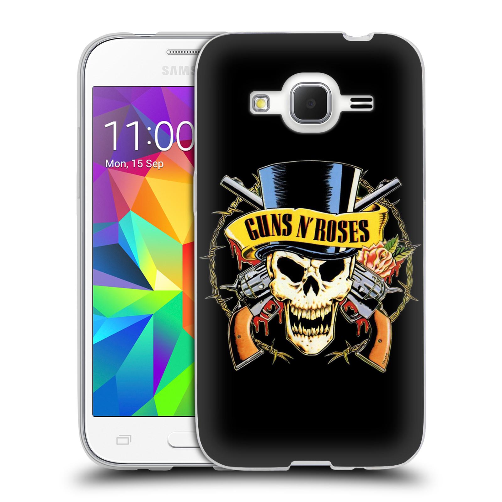 Silikonové pouzdro na mobil Samsung Galaxy Core Prime LTE HEAD CASE Guns N' Roses - Lebka