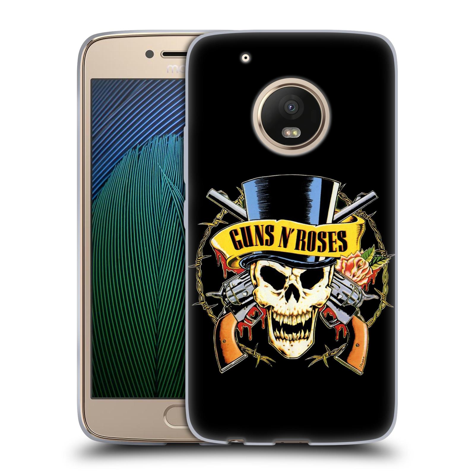Silikonové pouzdro na mobil Lenovo Moto G5 Plus - Head Case Guns N' Roses - Lebka