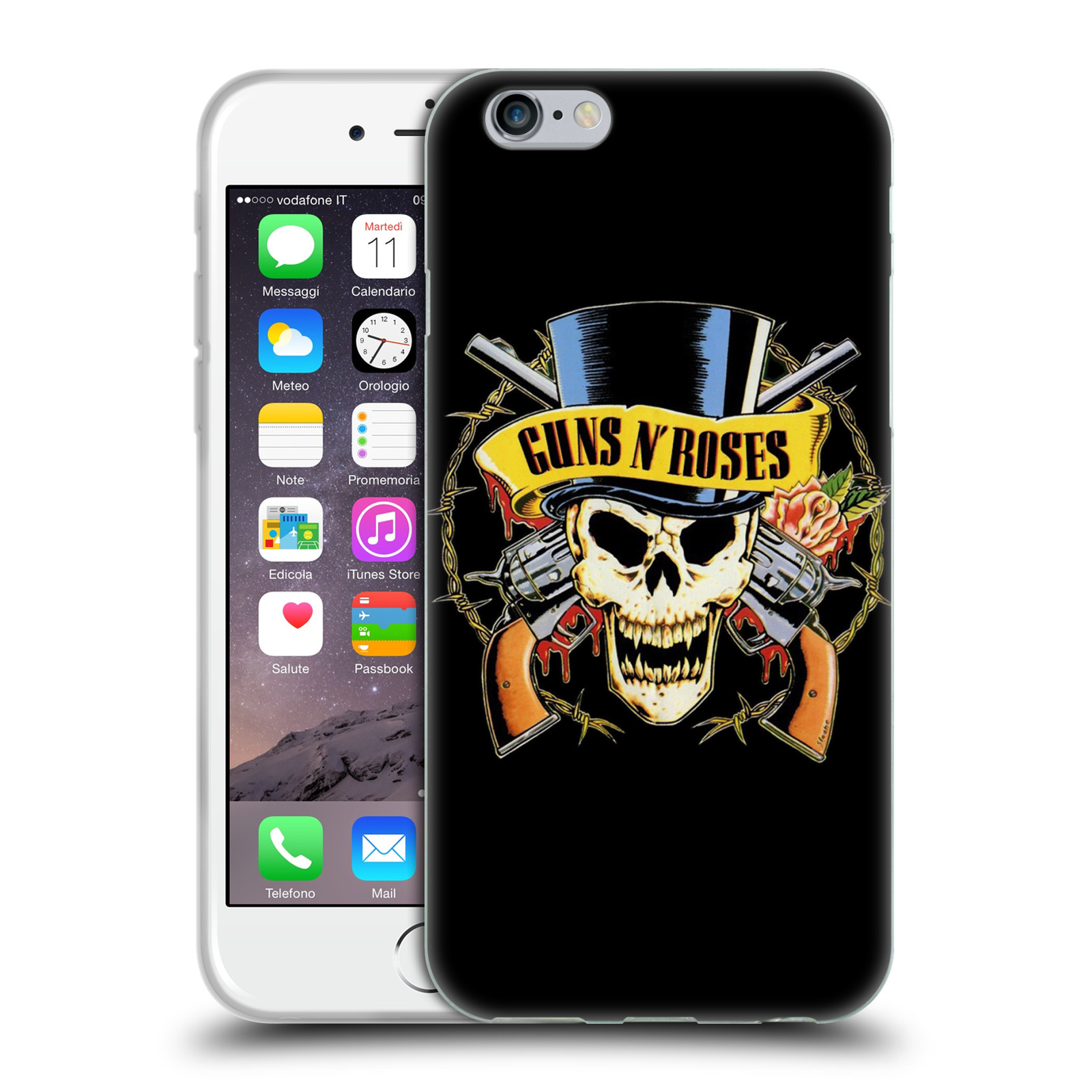 Silikonové pouzdro na mobil Apple iPhone 6 HEAD CASE Guns N' Roses - Lebka