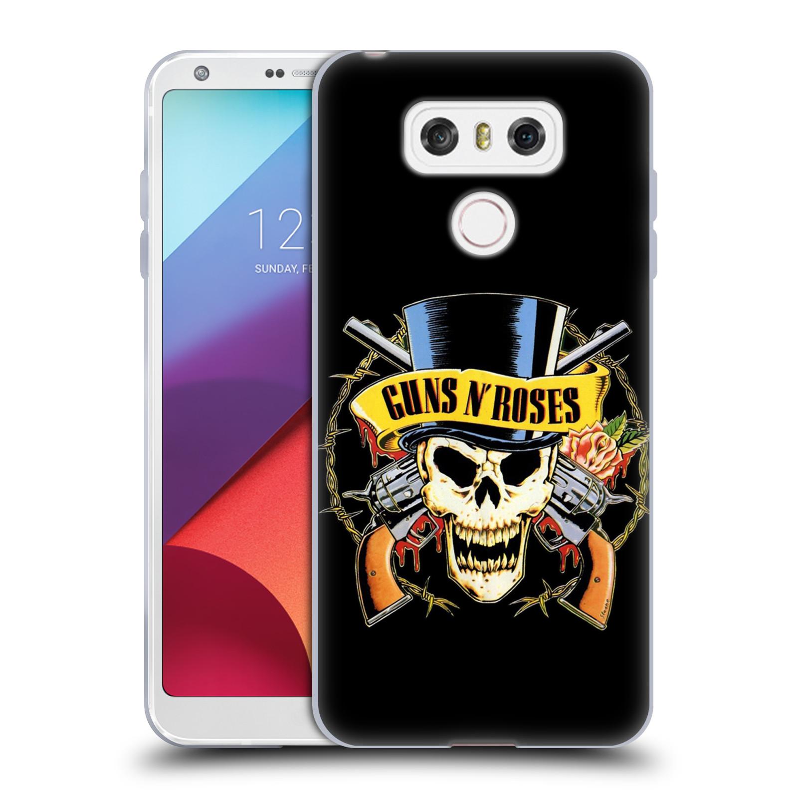 Silikonové pouzdro na mobil LG G6 - Head Case Guns N' Roses - Lebka
