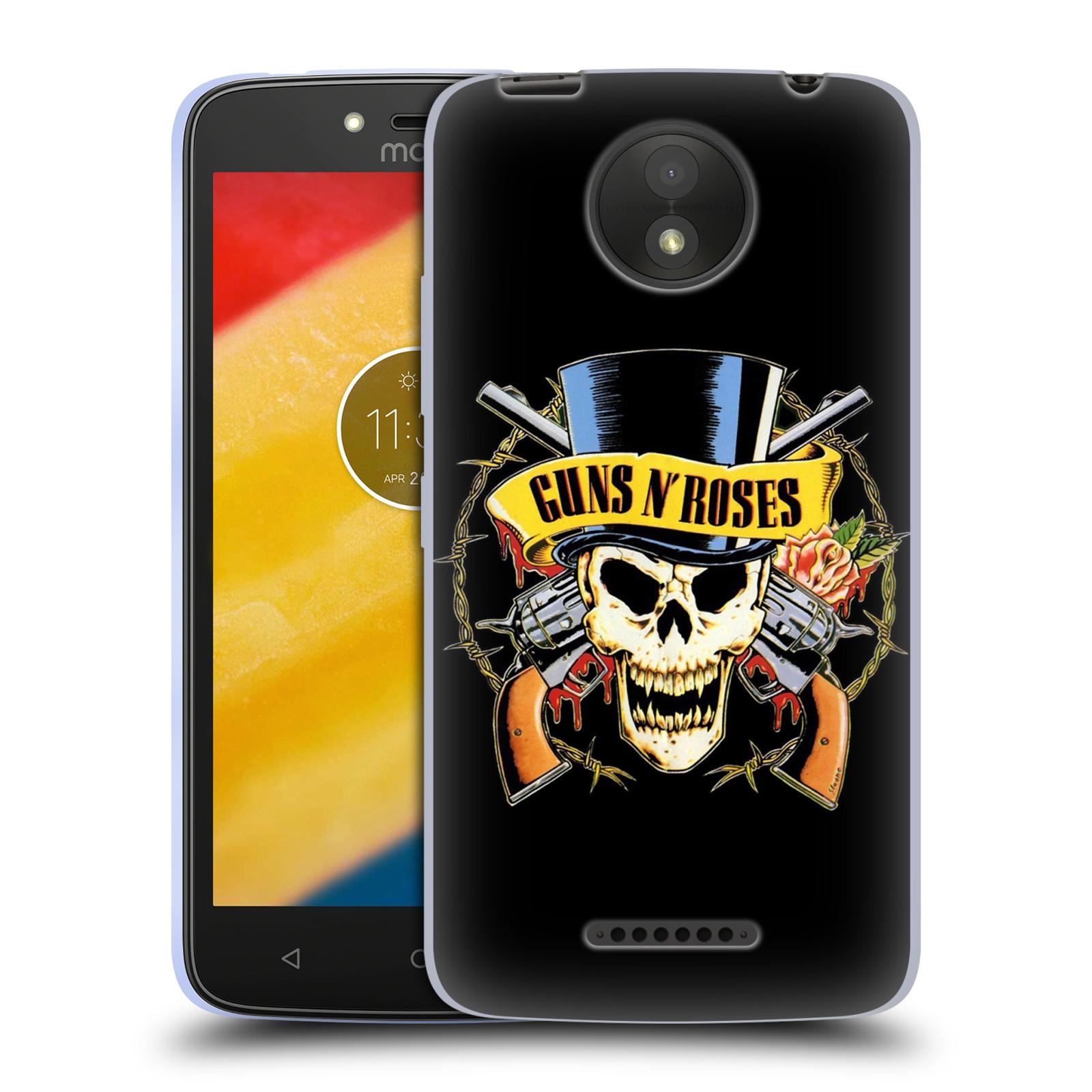 Silikonové pouzdro na mobil Lenovo Moto C Plus - Head Case - Guns N' Roses - Lebka
