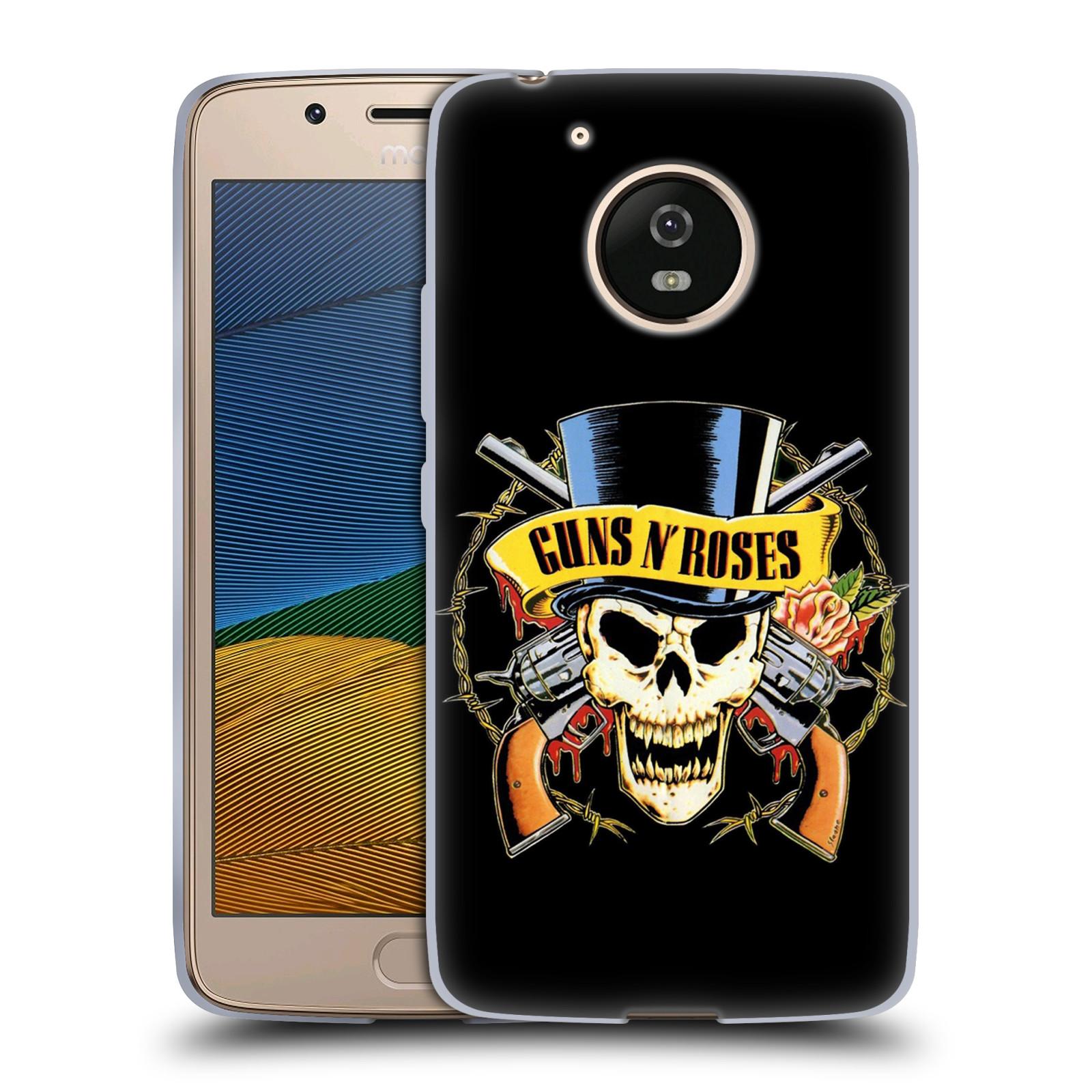 Silikonové pouzdro na mobil Lenovo Moto G5 - Head Case Guns N' Roses - Lebka