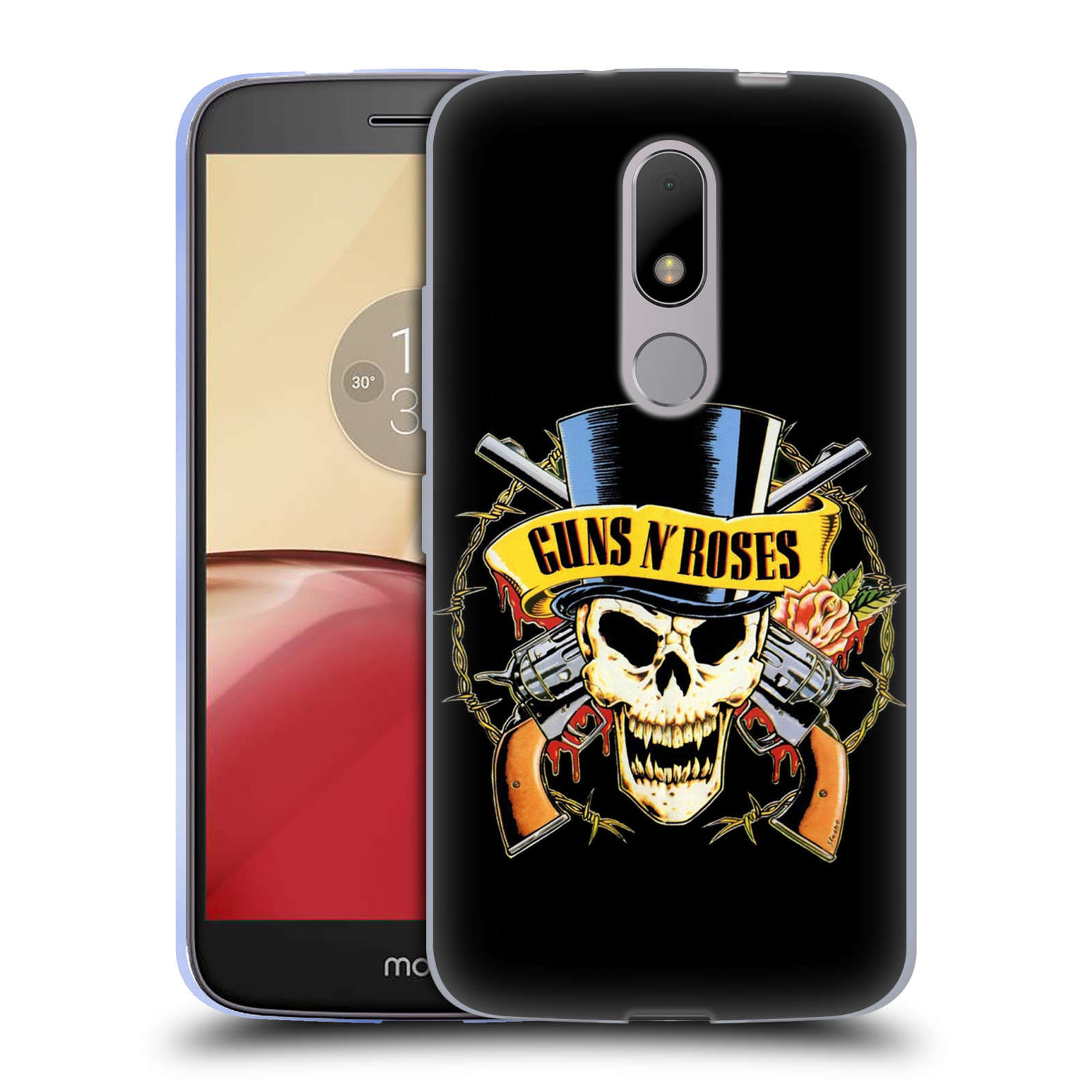 Silikonové pouzdro na mobil Lenovo Moto M - Head Case Guns N' Roses - Lebka