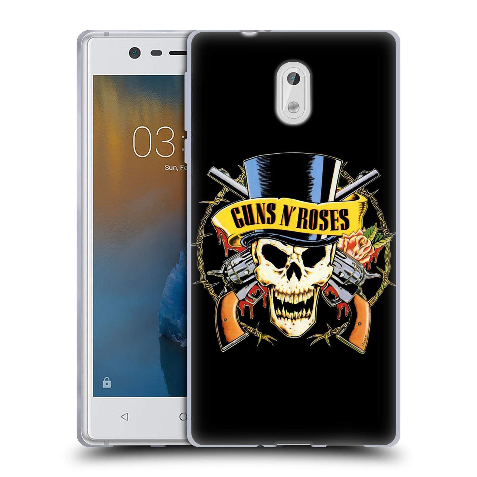 Silikonové pouzdro na mobil Nokia 3 Head Case - Guns N' Roses - Lebka