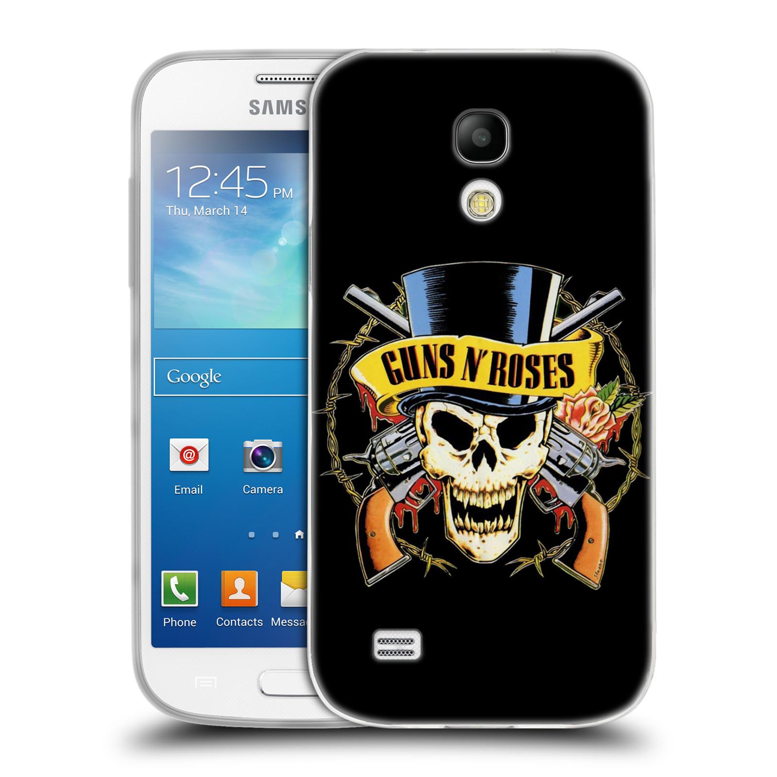 Silikonové pouzdro na mobil Samsung Galaxy S4 Mini HEAD CASE Guns N' Roses - Lebka