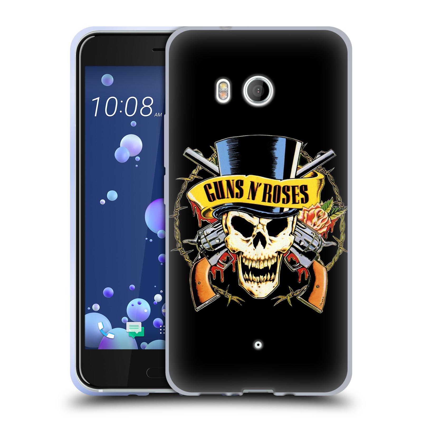 Silikonové pouzdro na mobil HTC U11 - Head Case - Guns N' Roses - Lebka
