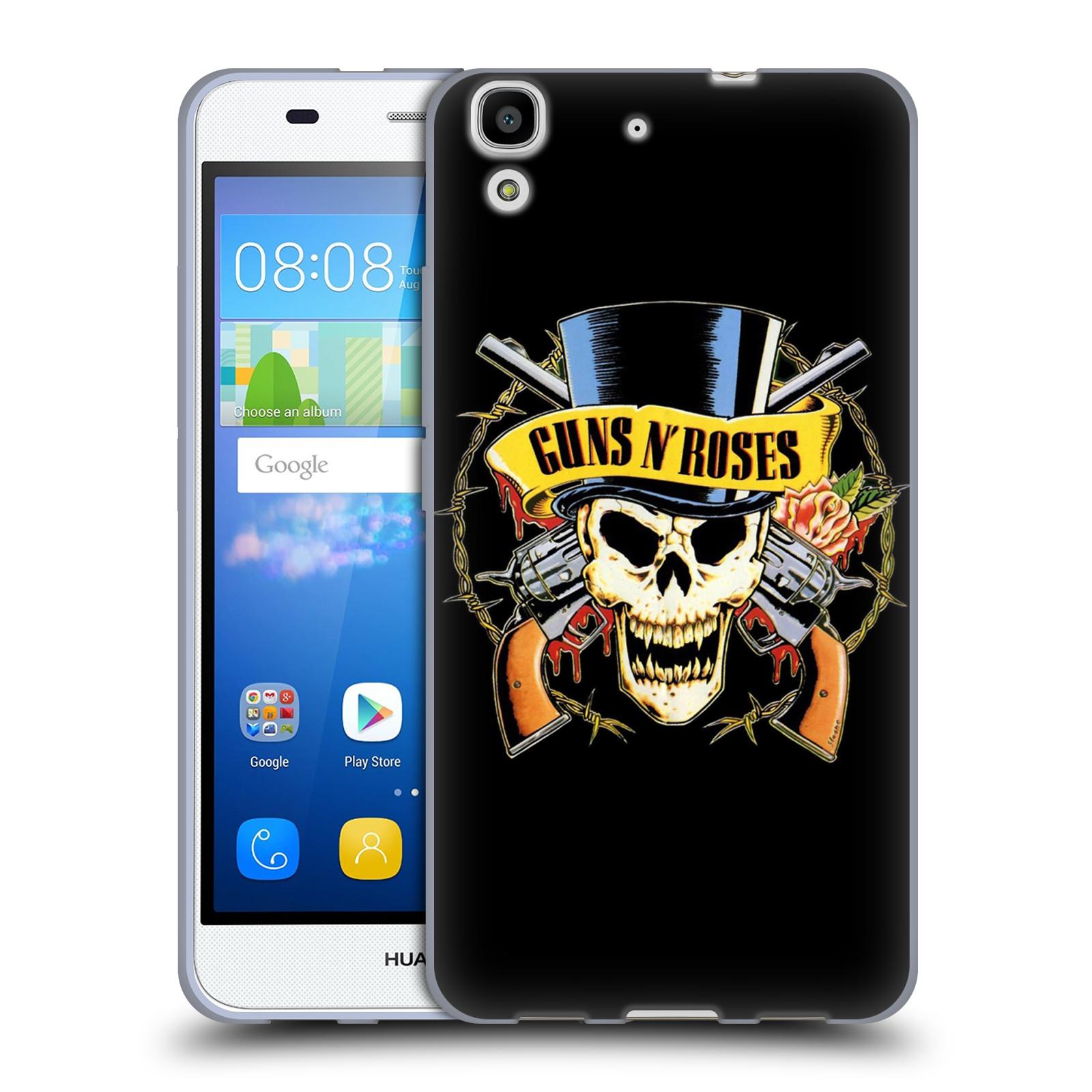 Silikonové pouzdro na mobil Huawei Y6 HEAD CASE Guns N' Roses - Lebka