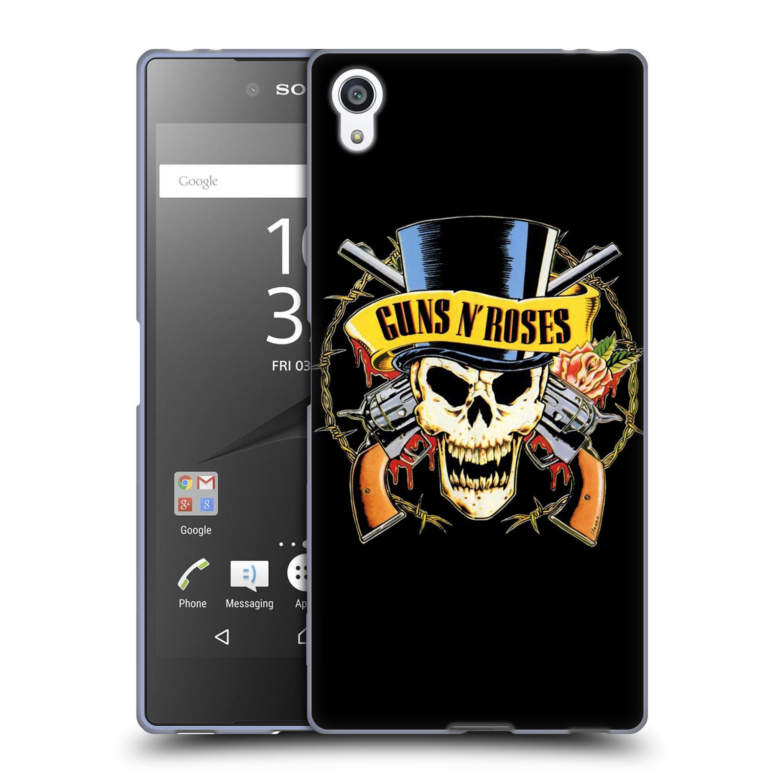 Silikonové pouzdro na mobil Sony Xperia Z5 Premium HEAD CASE Guns N' Roses - Lebka