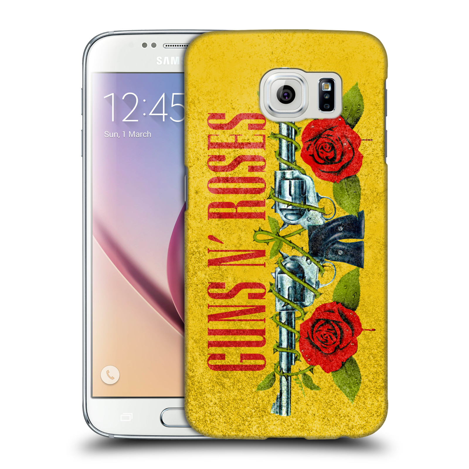 Plastové pouzdro na mobil Samsung Galaxy S6 HEAD CASE Guns N' Roses - Pistole