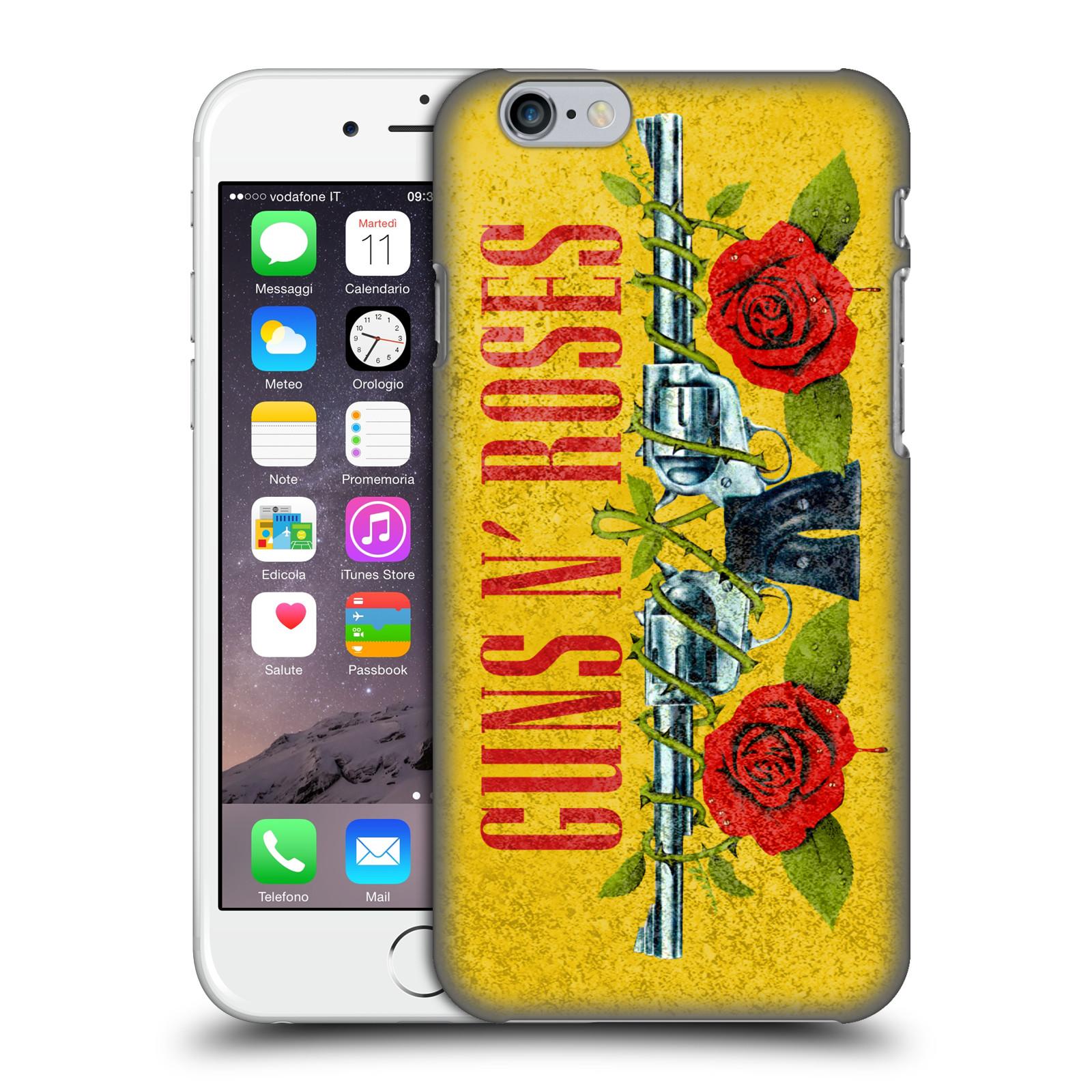 Plastové pouzdro na mobil Apple iPhone 6 HEAD CASE Guns N' Roses - Pistole
