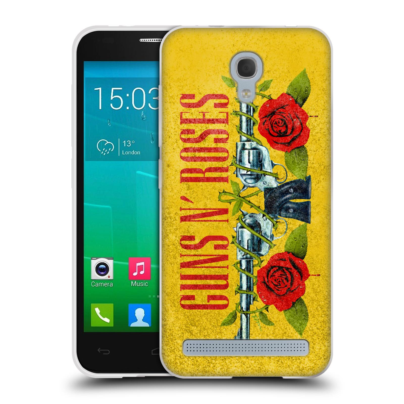Silikonové pouzdro na mobil Alcatel One Touch Idol 2 Mini S 6036Y HEAD CASE Guns N' Roses - Pistole (Silikonový kryt či obal na mobilní telefon licencovaným motivem Guns N' Roses pro Alcatel Idol 2 Mini S OT-6036Y)