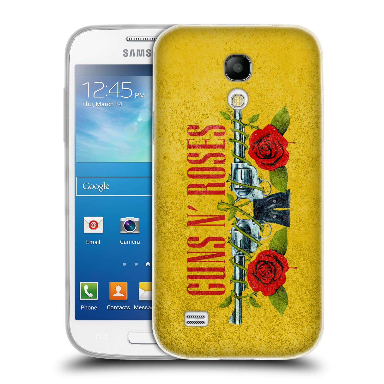 Silikonové pouzdro na mobil Samsung Galaxy S4 Mini HEAD CASE Guns N' Roses - Pistole