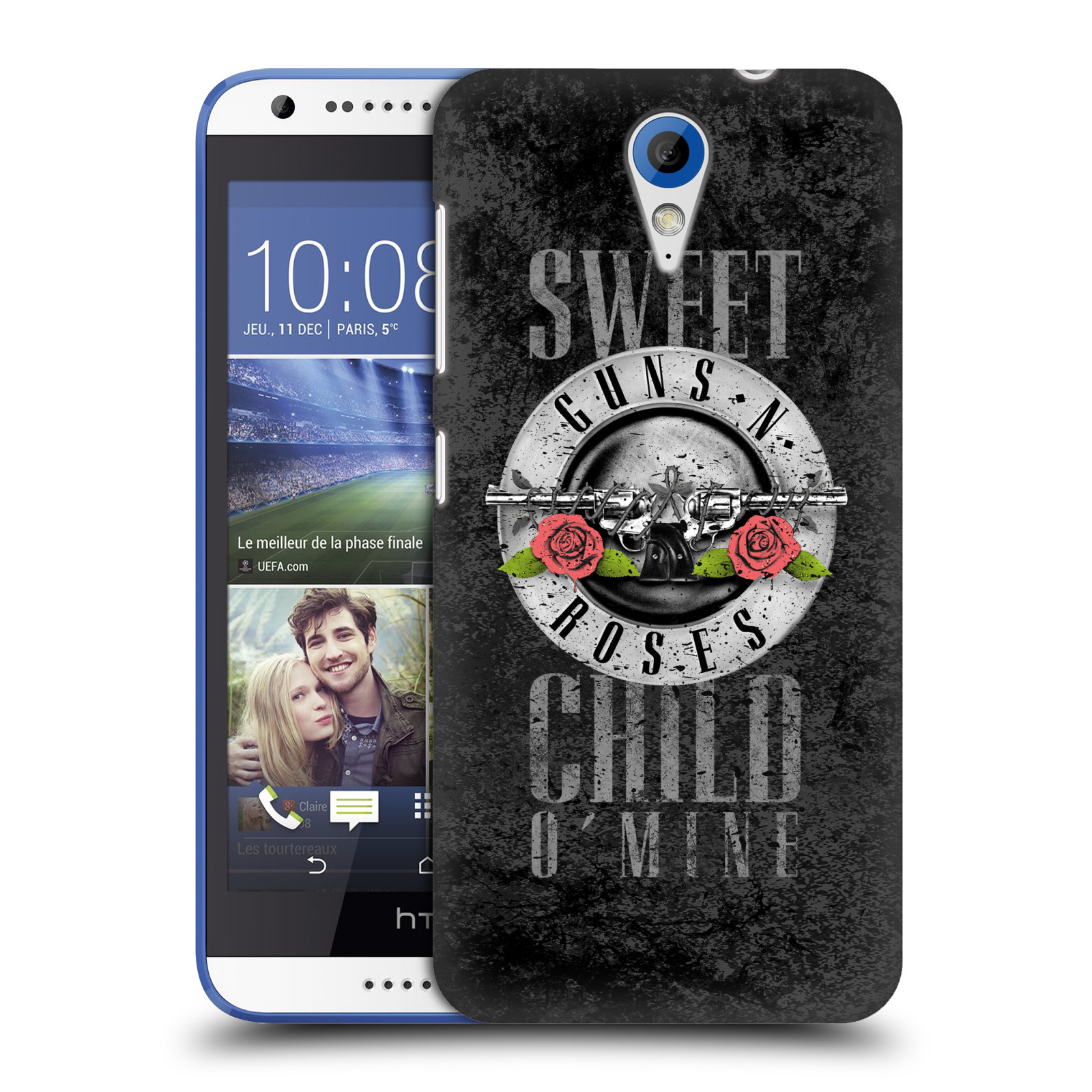 Plastové pouzdro na mobil HTC Desire 620 HEAD CASE Guns N' Roses - Sweet Child