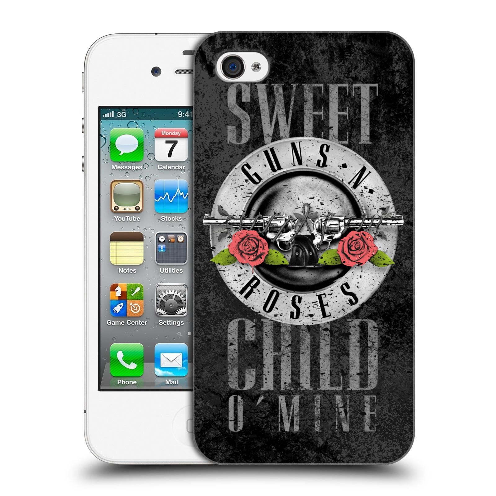 Plastové pouzdro na mobil Apple iPhone 4 a 4S HEAD CASE Guns N' Roses - Sweet Child