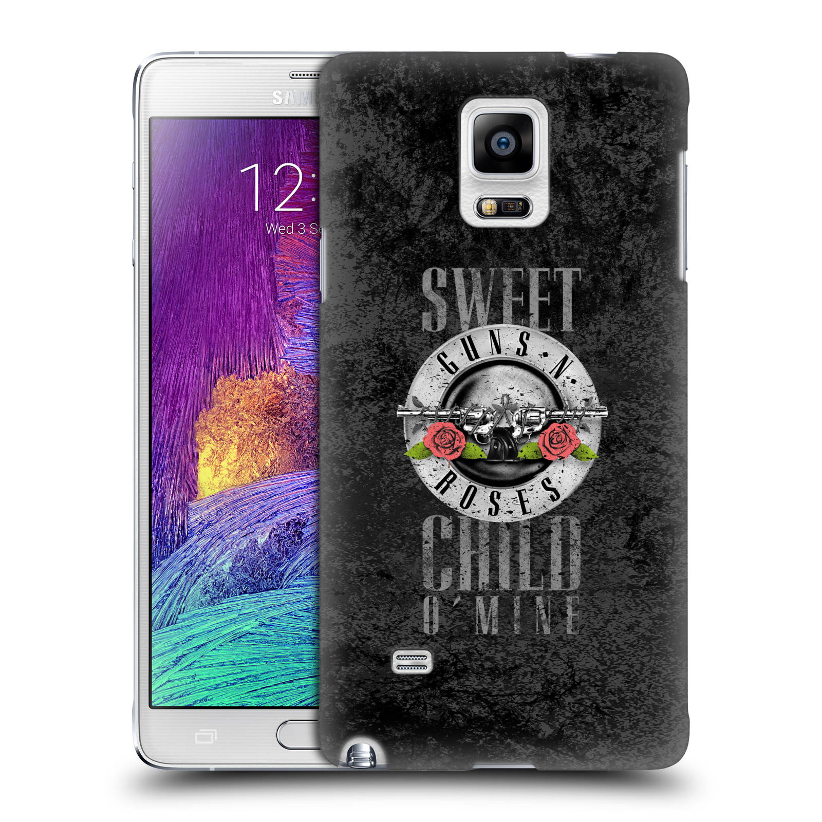 Plastové pouzdro na mobil Samsung Galaxy Note 4 HEAD CASE Guns N' Roses - Sweet Child