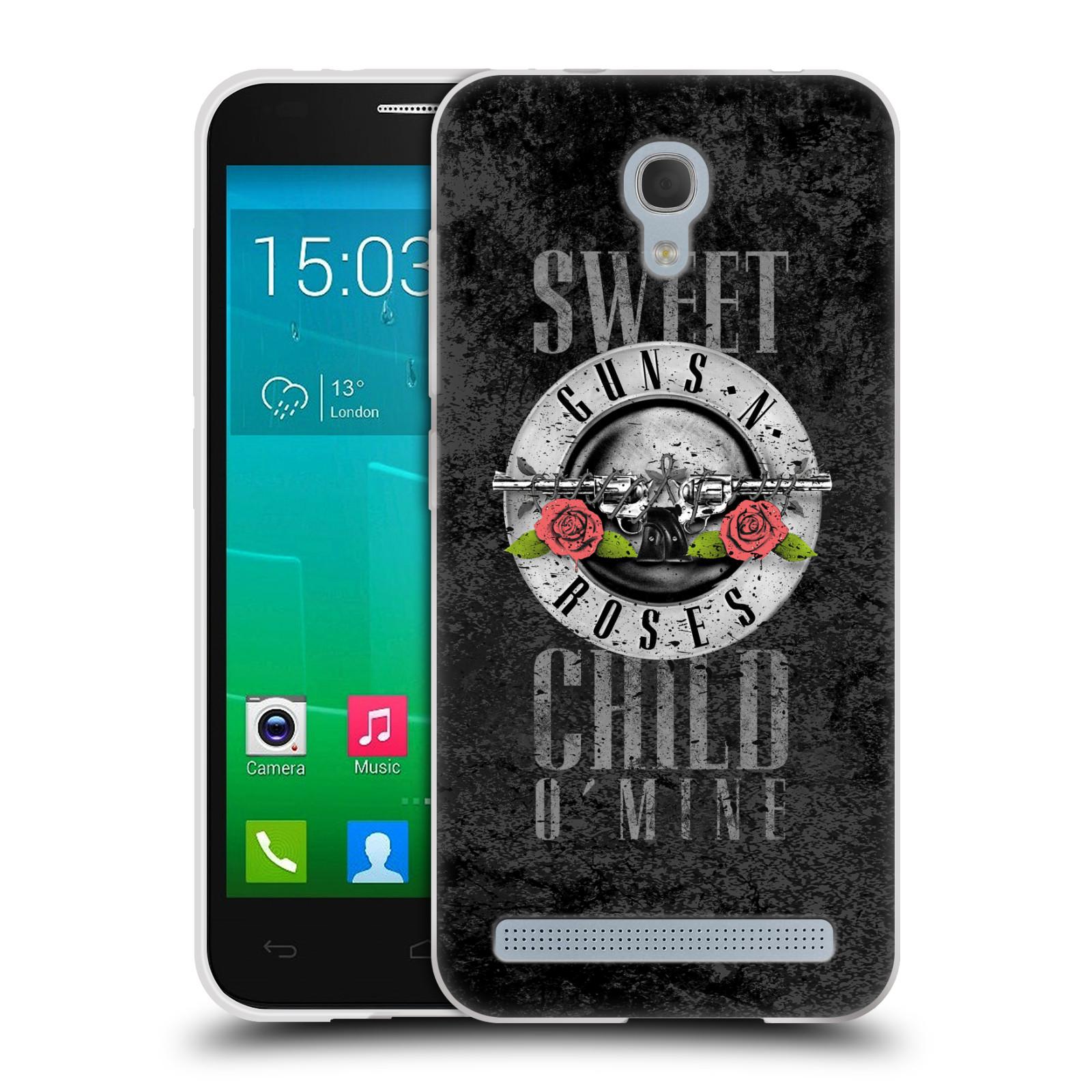 Silikonové pouzdro na mobil Alcatel One Touch Idol 2 Mini S 6036Y HEAD CASE Guns N' Roses - Sweet Child (Silikonový kryt či obal na mobilní telefon licencovaným motivem Guns N' Roses pro Alcatel Idol 2 Mini S OT-6036Y)