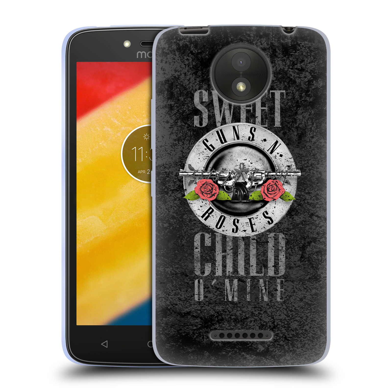 Silikonové pouzdro na mobil Lenovo Moto C Plus - Head Case - Guns N' Roses - Sweet Child