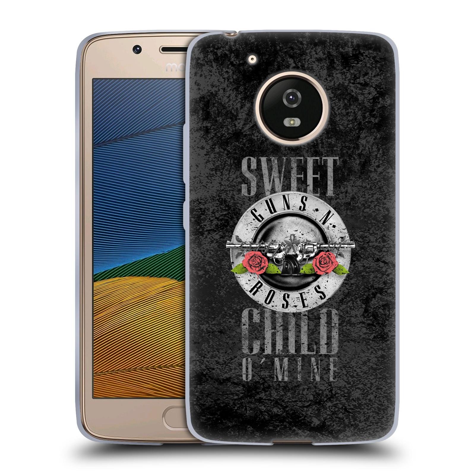 Silikonové pouzdro na mobil Lenovo Moto G5 - Head Case Guns N' Roses - Sweet Child