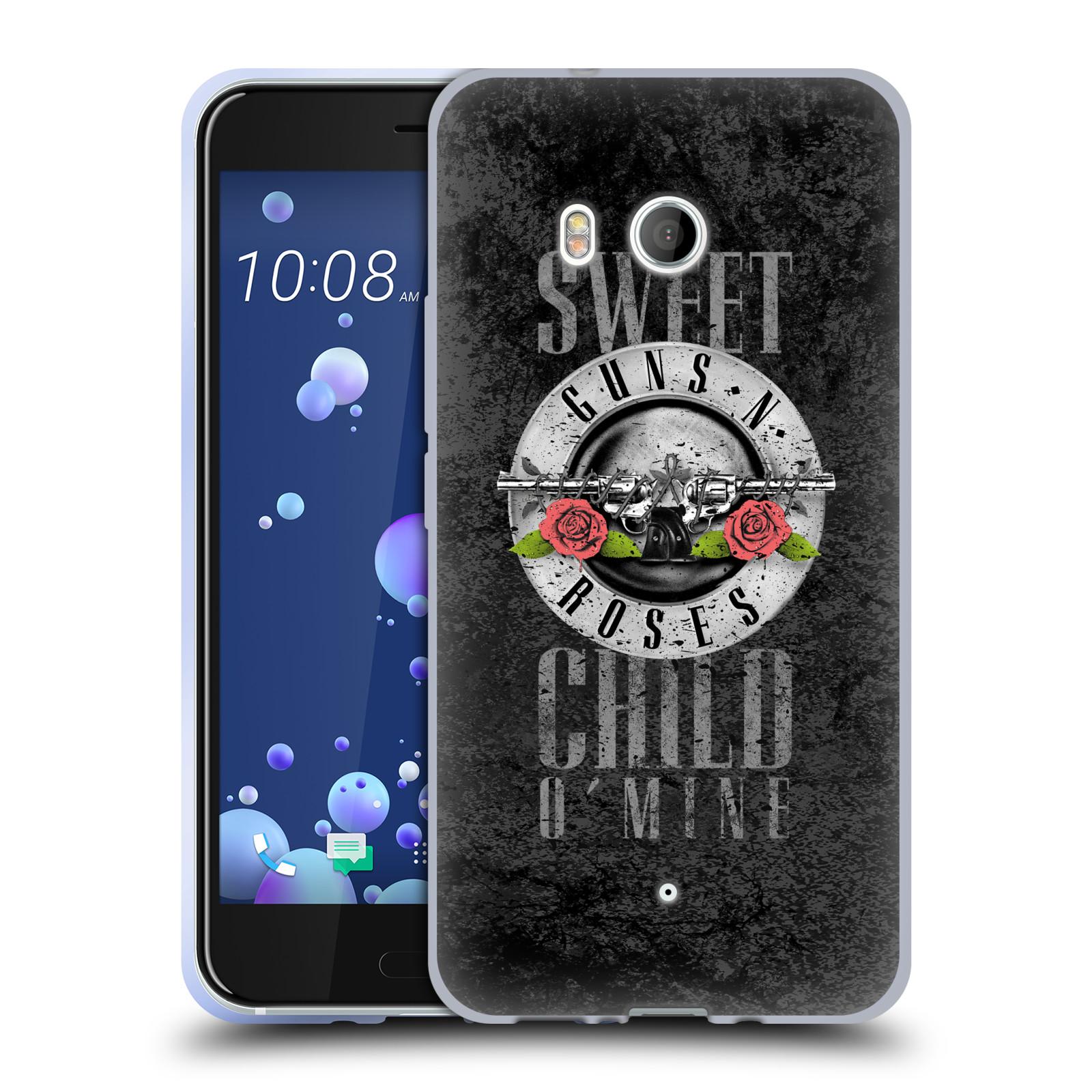 Silikonové pouzdro na mobil HTC U11 - Head Case - Guns N' Roses - Sweet Child