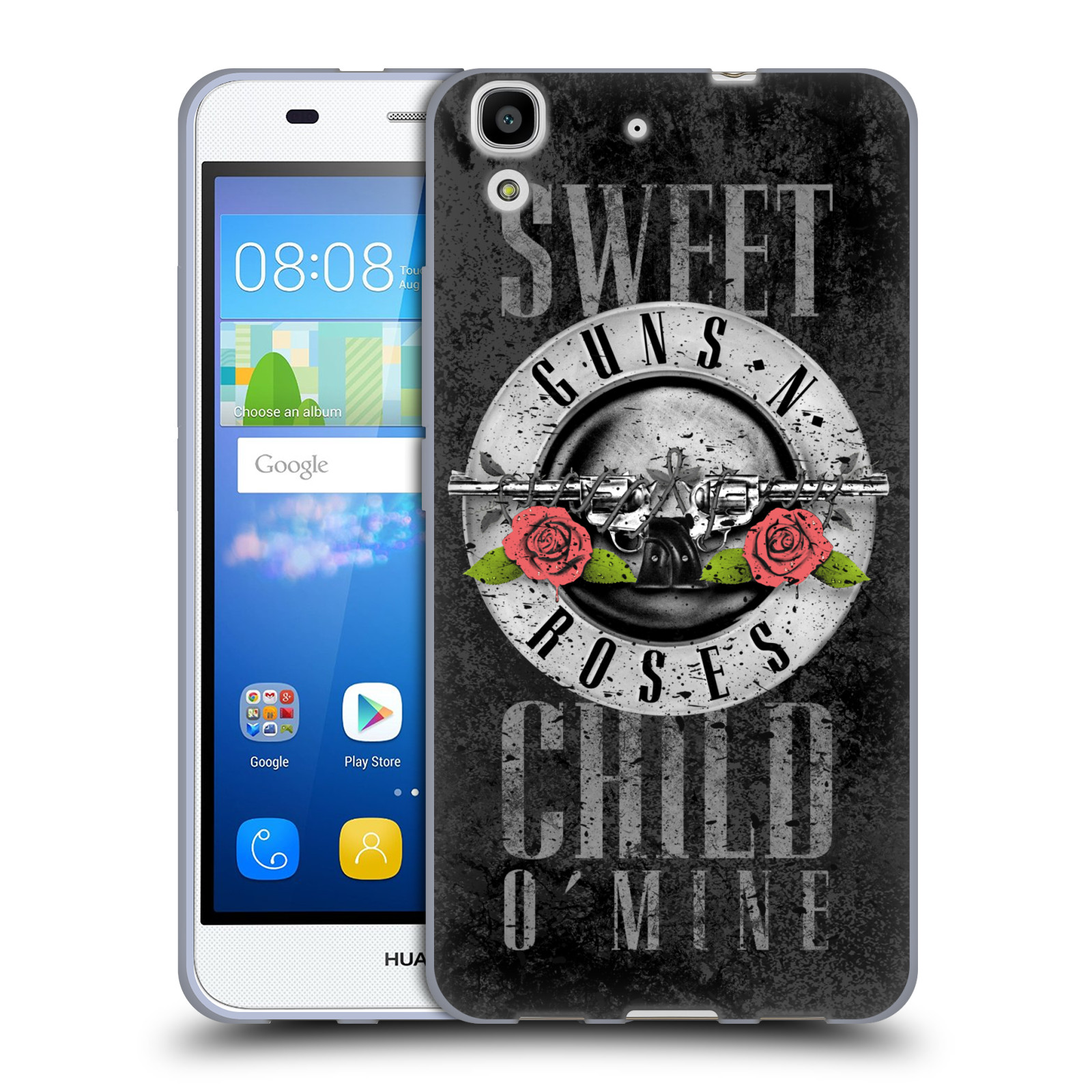 Silikonové pouzdro na mobil Huawei Y6 HEAD CASE Guns N' Roses - Sweet Child