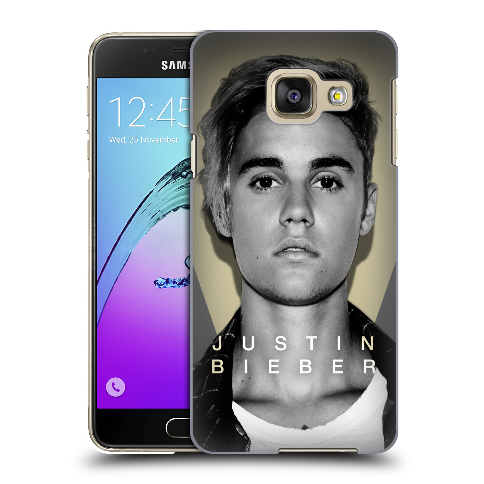 Plastové pouzdro na mobil Samsung Galaxy A3 (2016) HEAD CASE Justin Bieber Official - Head Shot