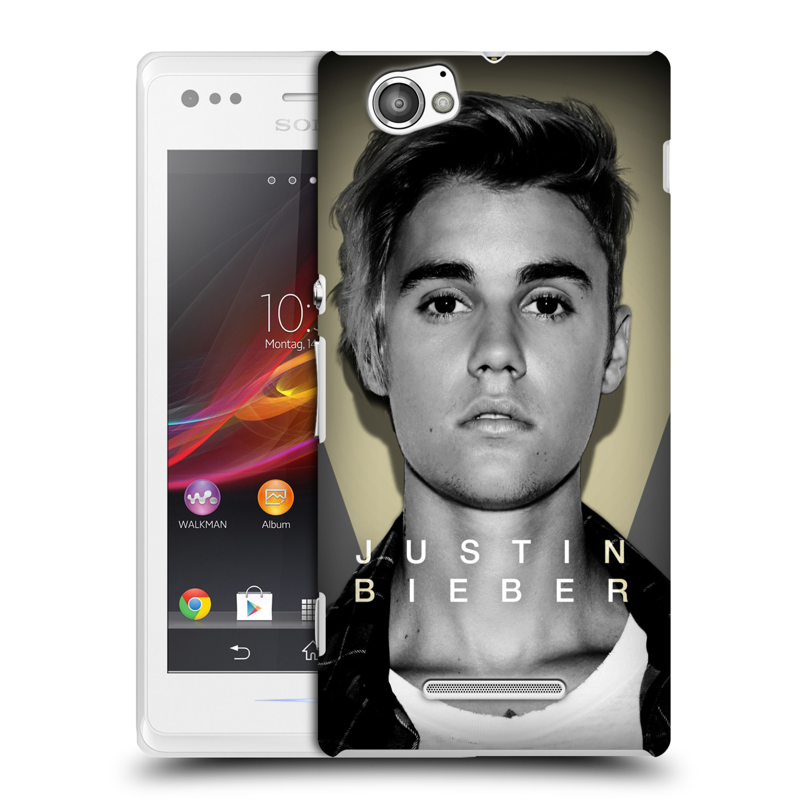 Plastové pouzdro na mobil Sony Xperia M C1905 HEAD CASE Justin Bieber Official - Head Shot