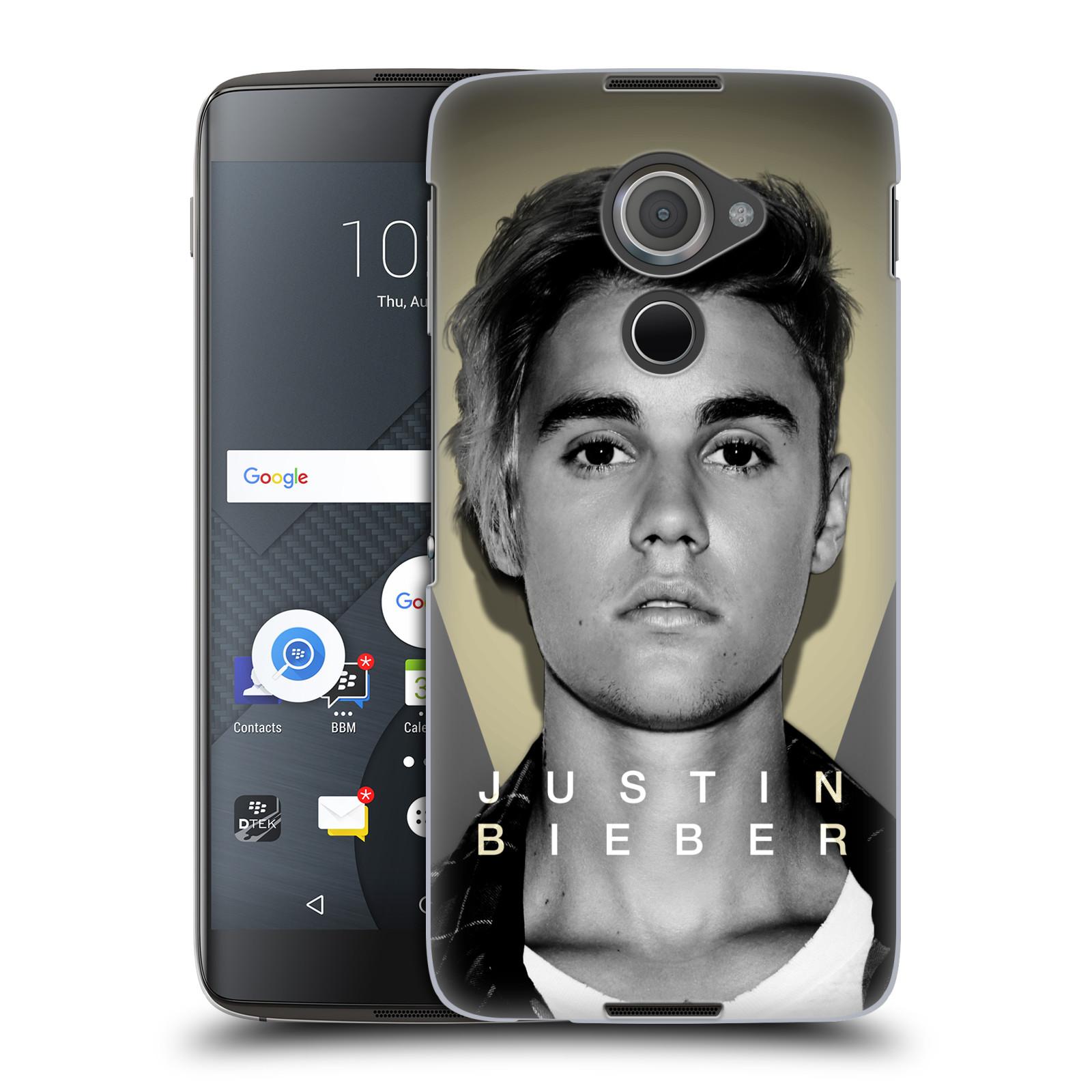 Plastové pouzdro na mobil Blackberry DTEK60 (Argon) - Head Case Justin Bieber Official - Head Shot