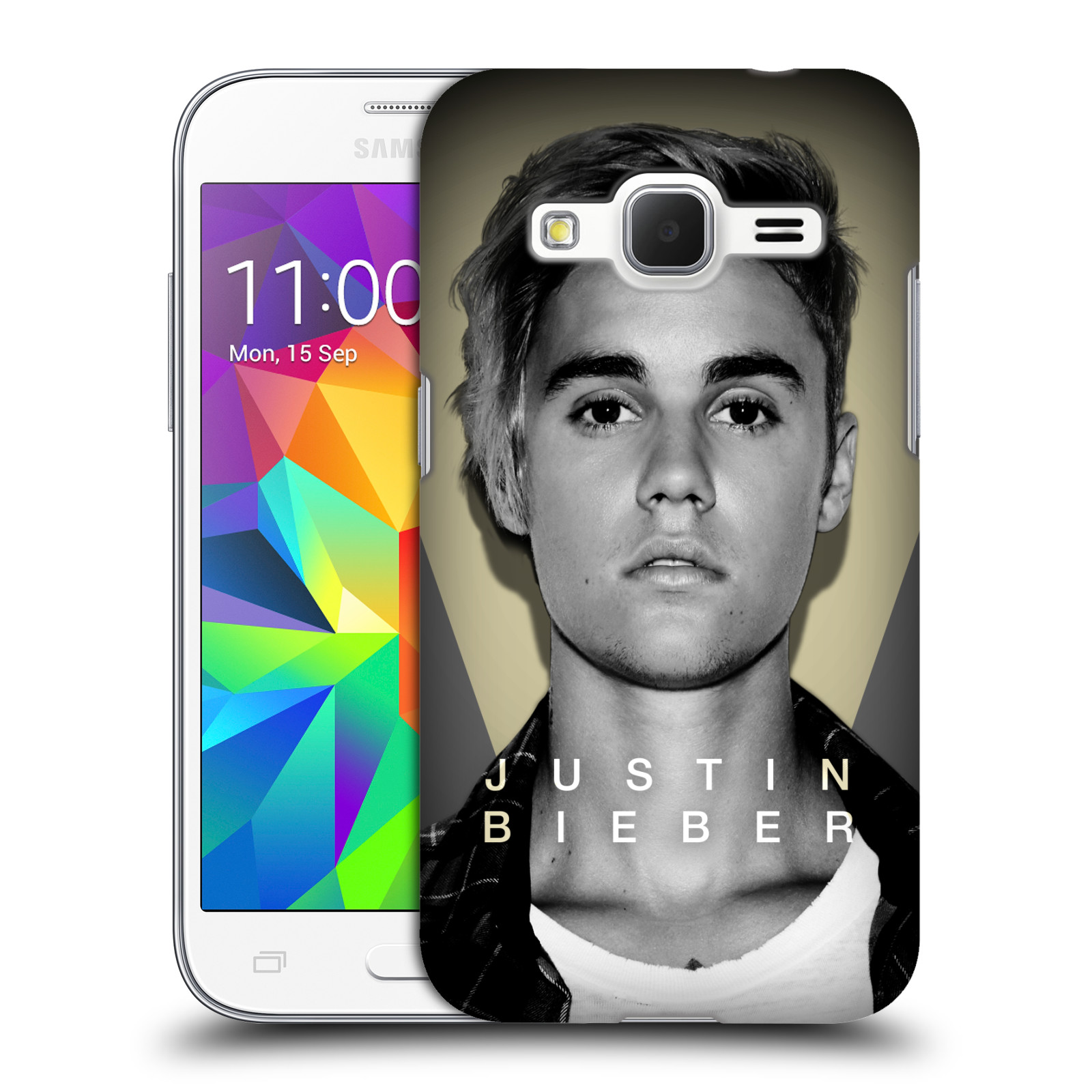 Plastové pouzdro na mobil Samsung Galaxy Core Prime VE HEAD CASE Justin Bieber Official - Head Shot