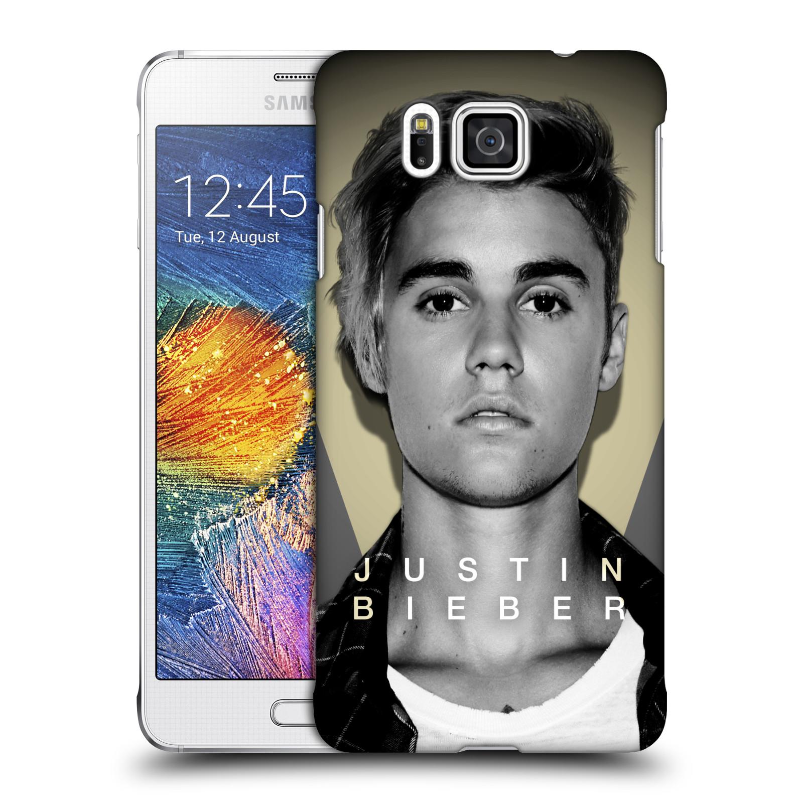 Plastové pouzdro na mobil Samsung Galaxy Alpha HEAD CASE Justin Bieber Official - Head Shot