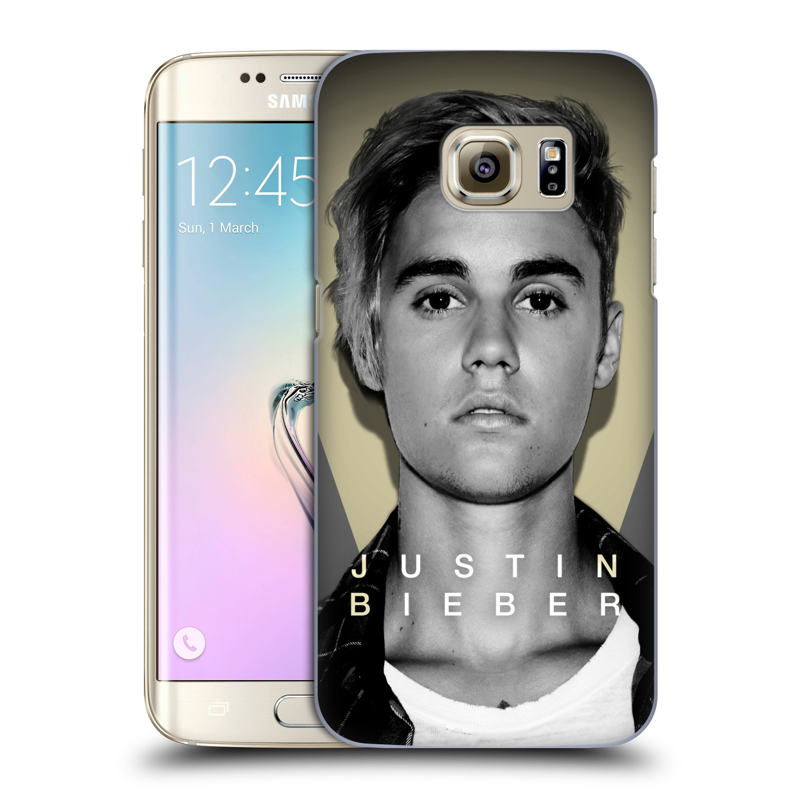 Plastové pouzdro na mobil Samsung Galaxy S7 Edge HEAD CASE Justin Bieber Official - Head Shot