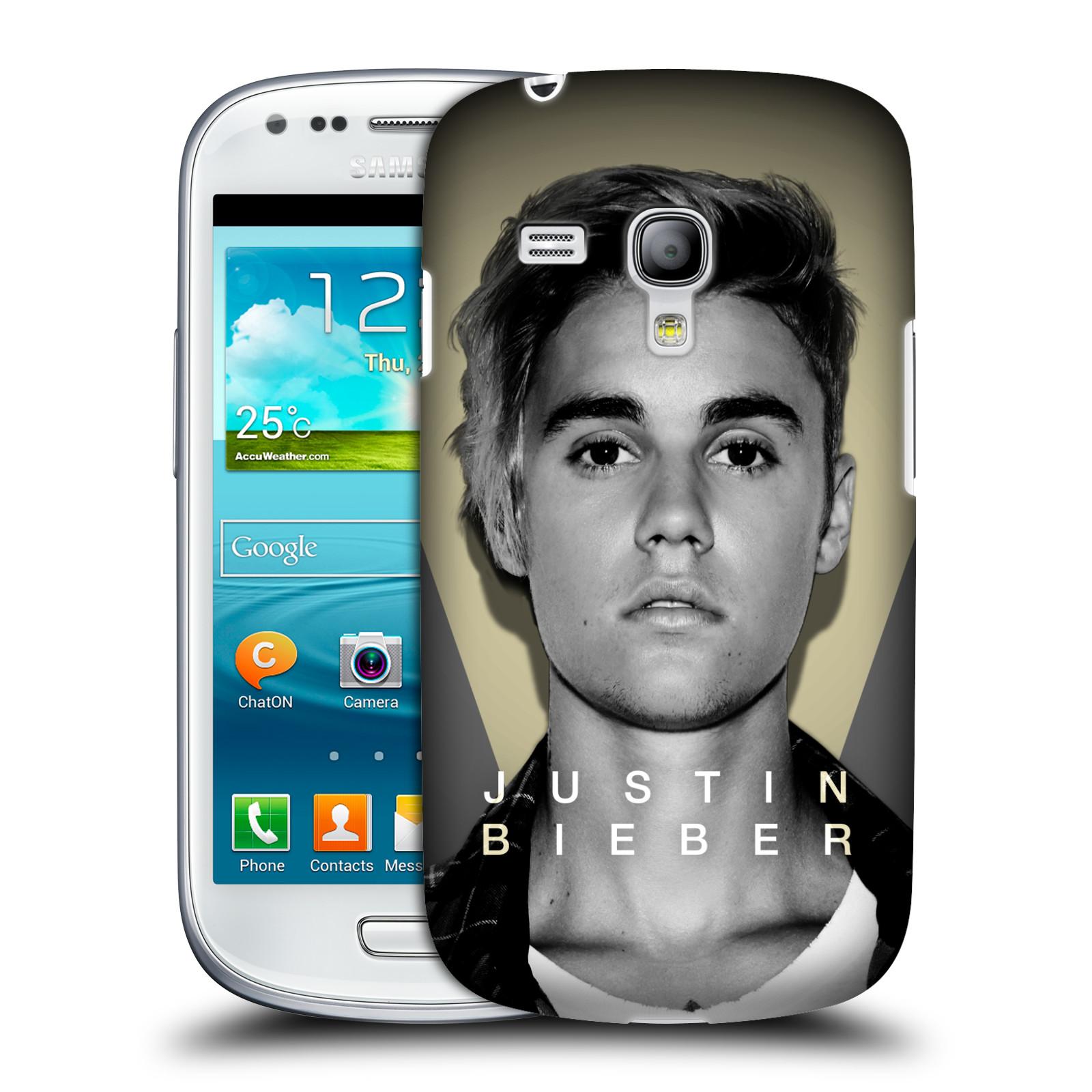 Plastové pouzdro na mobil Samsung Galaxy S III Mini VE HEAD CASE Justin Bieber Official - Head Shot (Kryt či obal na mobilní telefon s licencovaným motivem Justin Bieber pro Samsung Galaxy S3 Mini VE GT-i8200)