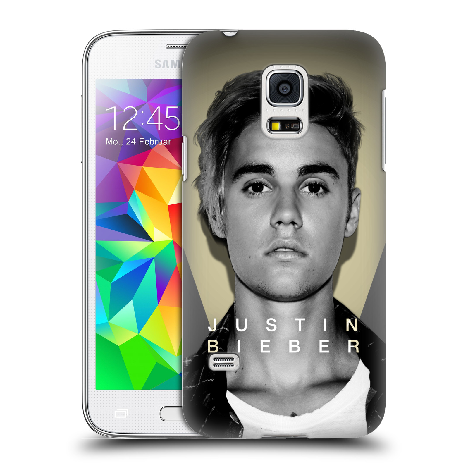 Plastové pouzdro na mobil Samsung Galaxy S5 Mini HEAD CASE Justin Bieber Official - Head Shot