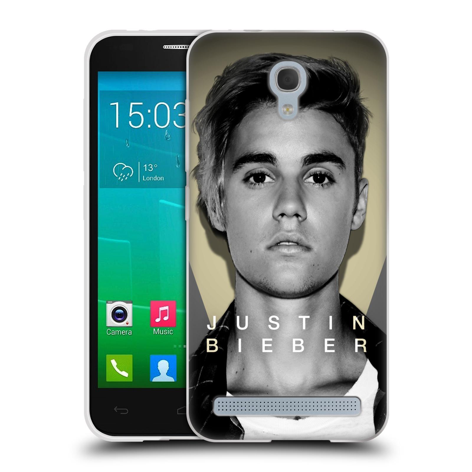 Silikonové pouzdro na mobil Alcatel One Touch Idol 2 Mini S 6036Y HEAD CASE Justin Bieber Official - Head Shot (Silikonový kryt či obal na mobilní telefon s licencovaným motivem Justin Bieber pro Alcatel Idol 2 Mini S OT-6036Y)