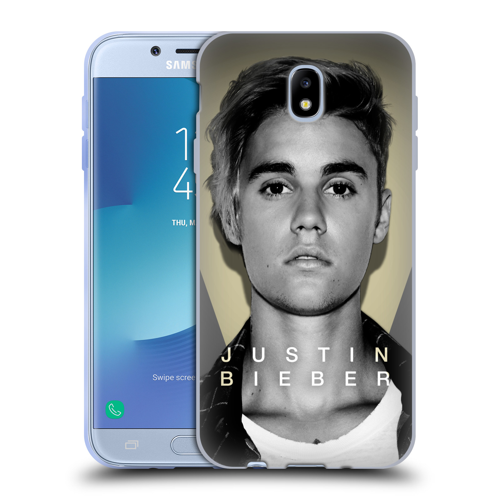 Silikonové pouzdro na mobil Samsung Galaxy J7 (2017) - Head Case - Justin Bieber Official - Head Shot